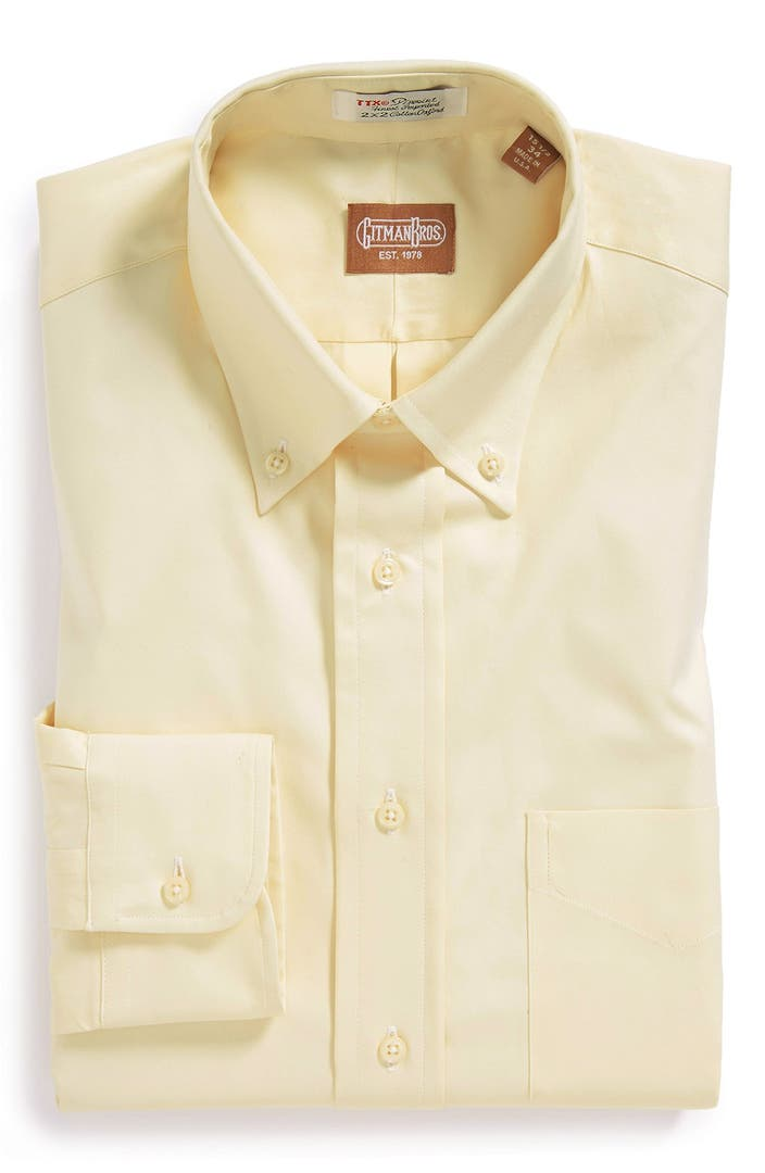 Gitman regular fit pinpoint cotton oxford button down for Pinpoint button down dress shirt