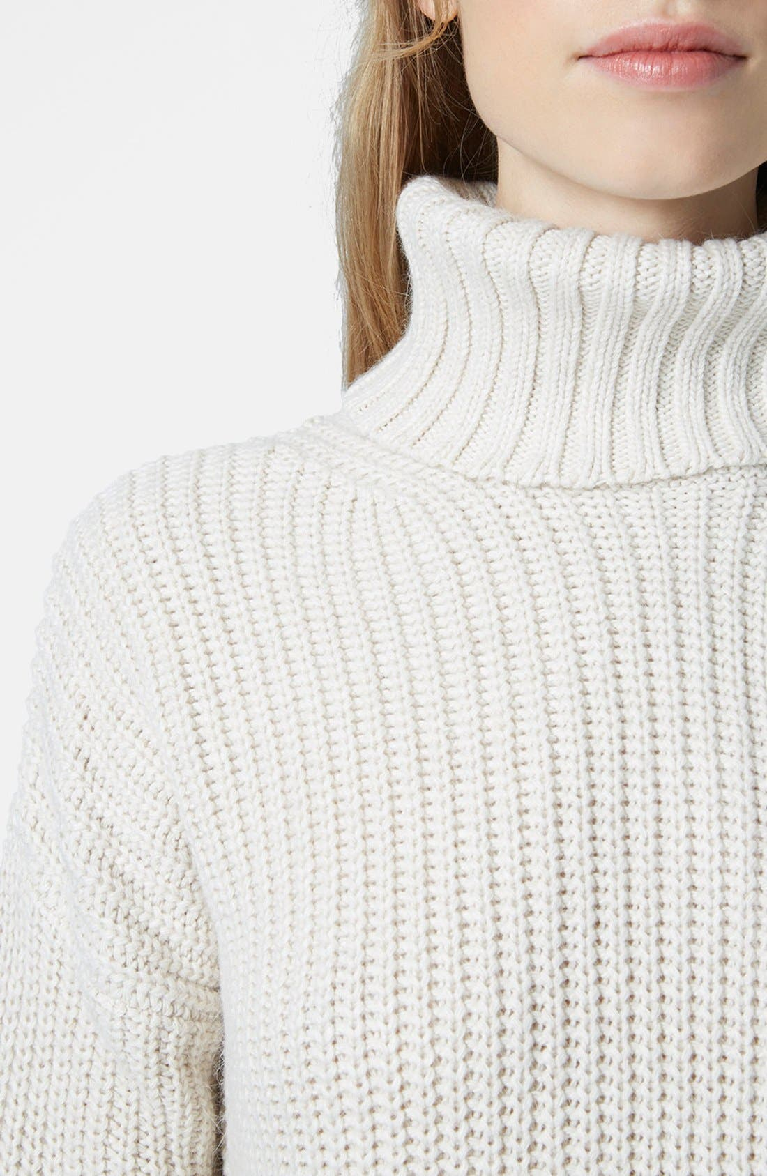 Alternate Image 4  - Topshop Chunky Ribbed Turtleneck Sweater
