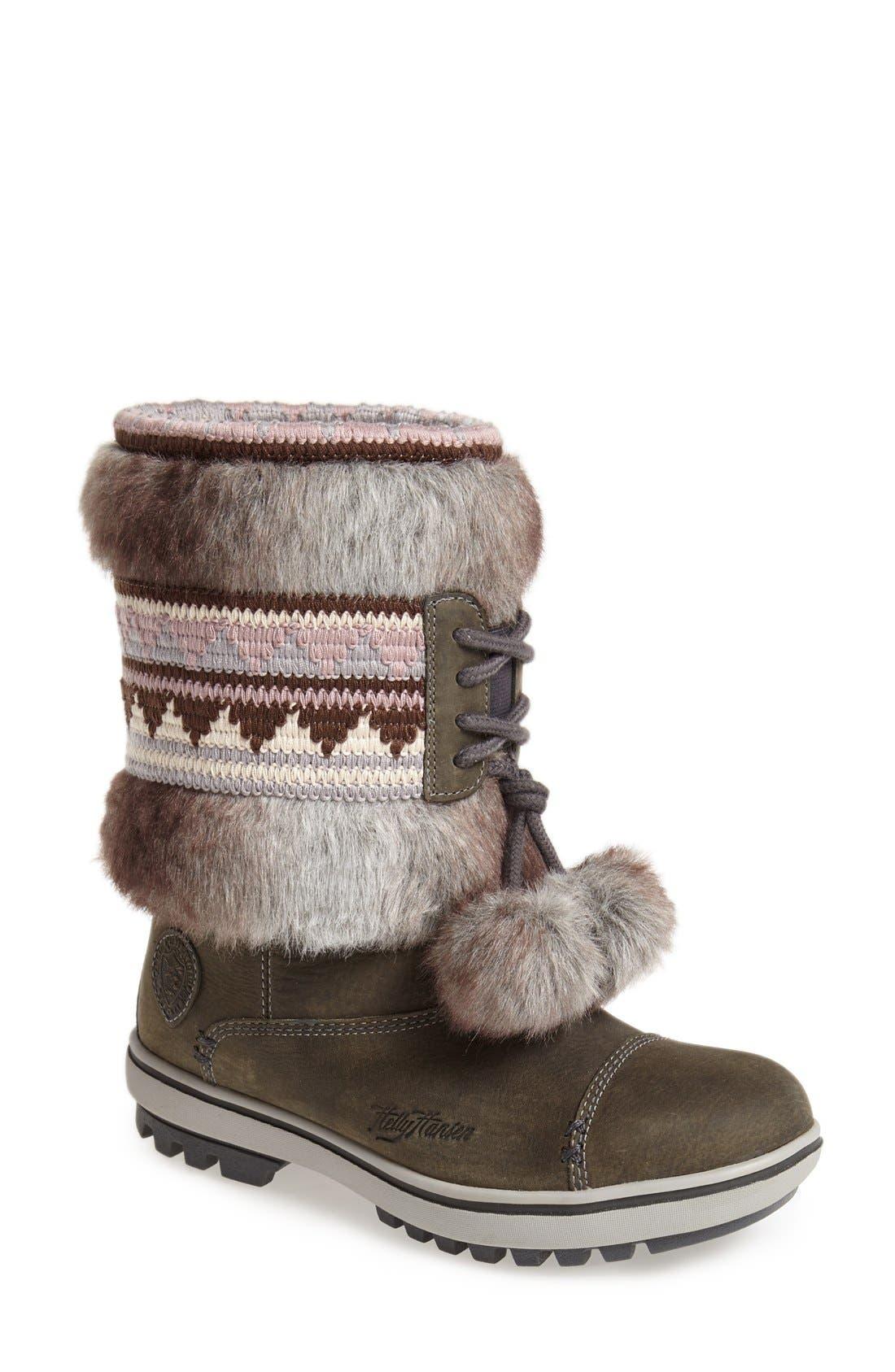 Alternate Image 1 Selected - Helly Hansen 'Iskoras' Waterproof Leather Snow Boot (Women)