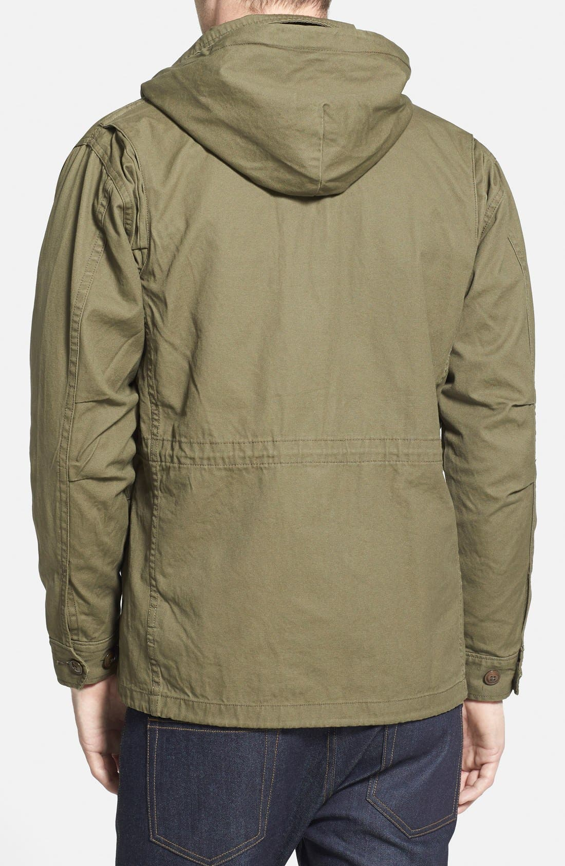 Alternate Image 2  - Obey 'Iggy' M-65 Field Jacket with Detachable Hood
