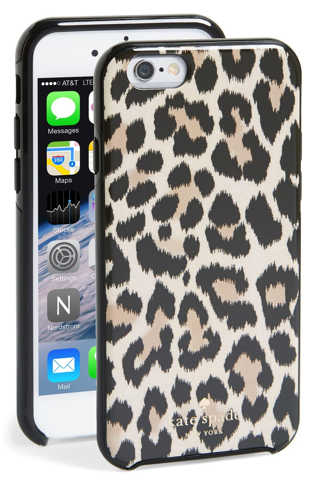 Alternate Image 1 Selected - kate spade new york 'leopard ikat' iPhone 6 case