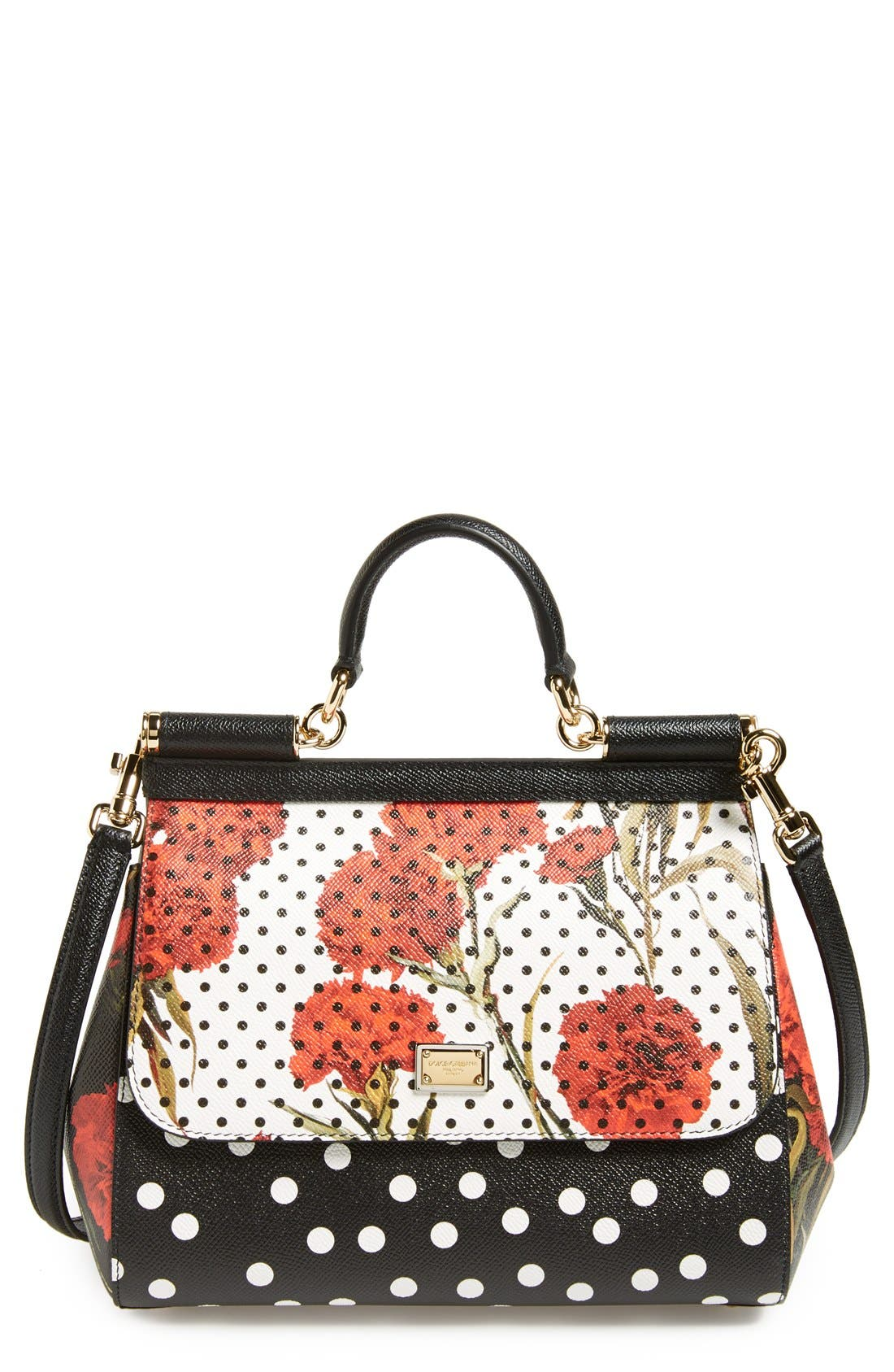 Alternate Image 1 Selected - Dolce&Gabbana 'Miss Sicily' Floral Print Satchel