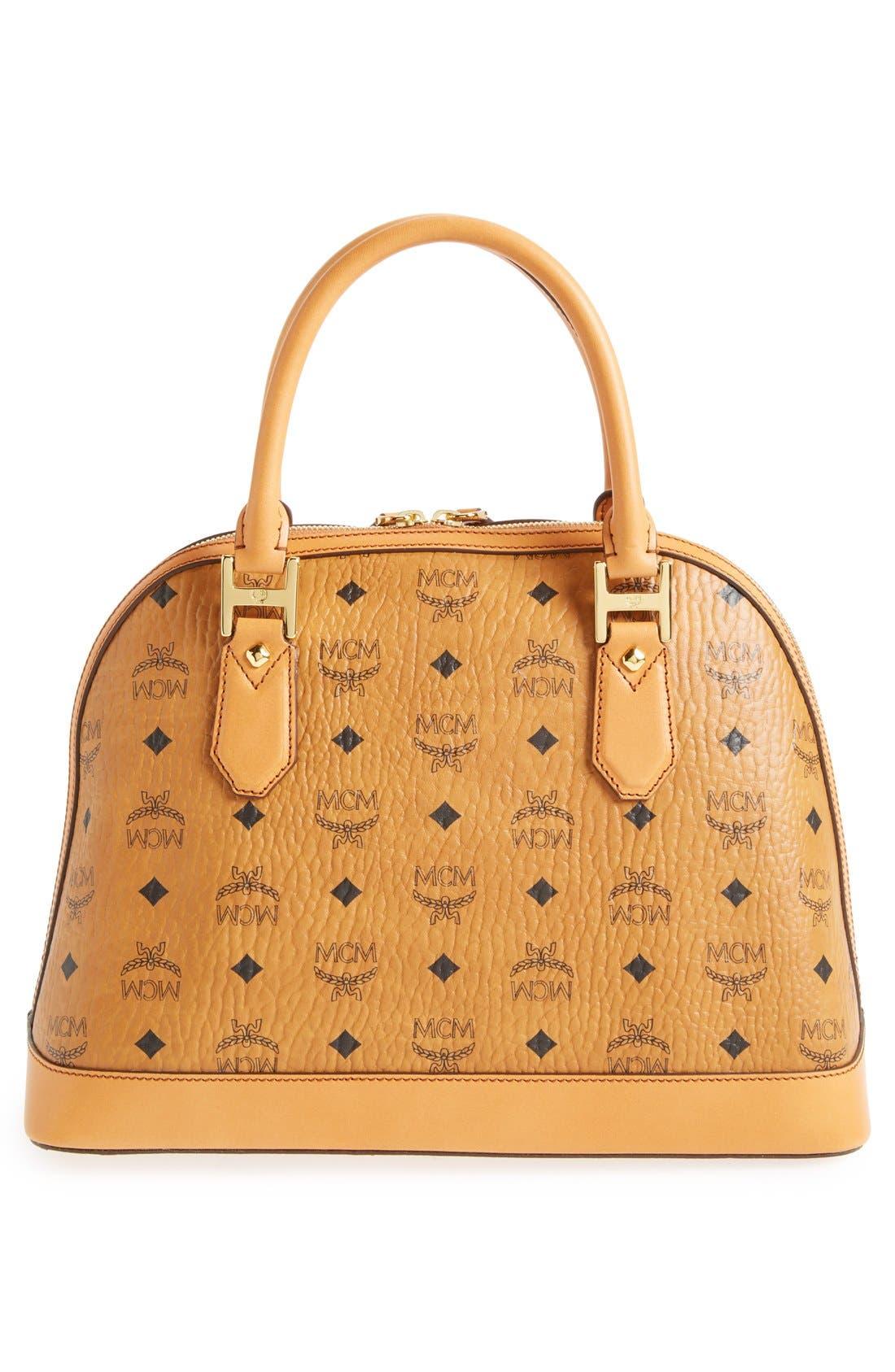 Alternate Image 4  - MCM 'Medium Heritage' Coated Canvas Bowler Bag