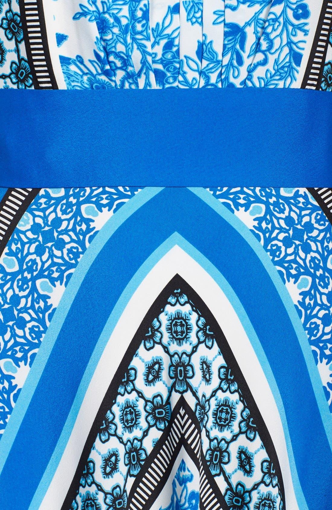 Alternate Image 3  - Eliza J Scarf Print Halter Crêpe de Chine Maxi Dress (Regular & Petite)
