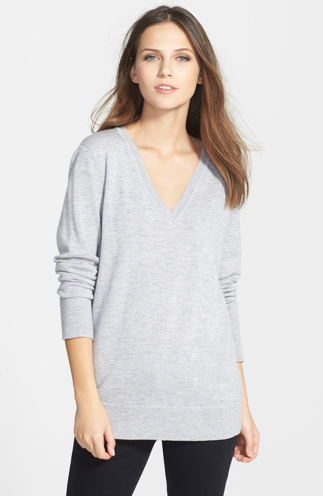 Alternate Image 1 Selected - rag & bone/JEAN 'Natalie' Merino Wool V-Neck Sweater