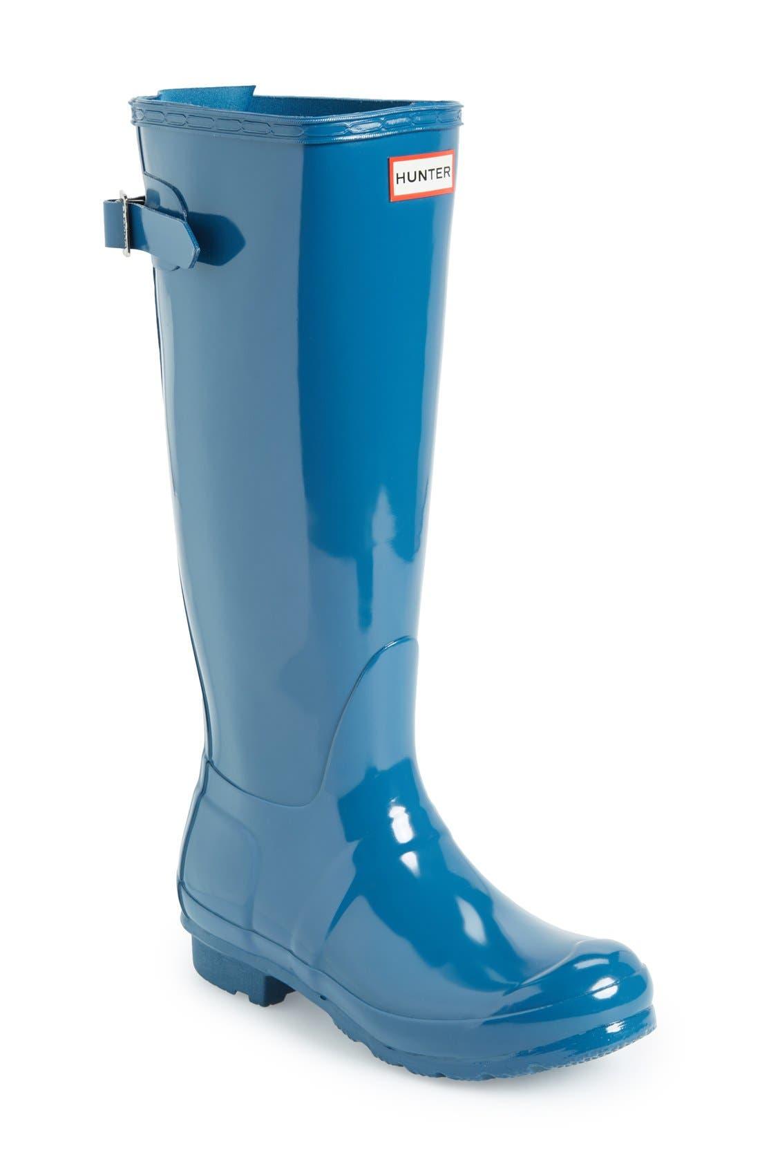 Alternate Image 1 Selected - Hunter Adjustable Back Gloss Rain Boot (Women)