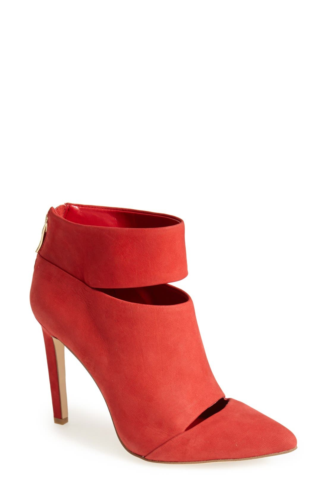Alternate Image 1 Selected - BCBGeneration 'Carolyn' Cutout Suede Bootie (Women)