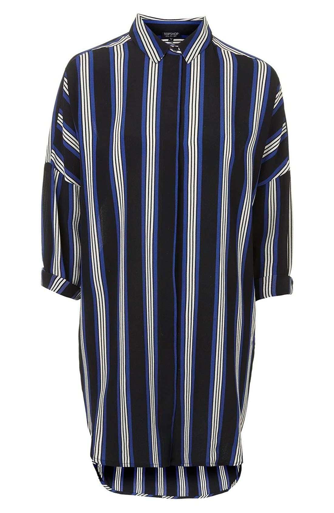 Alternate Image 3  - Topshop 'Granddad' Stripe Shirtdress