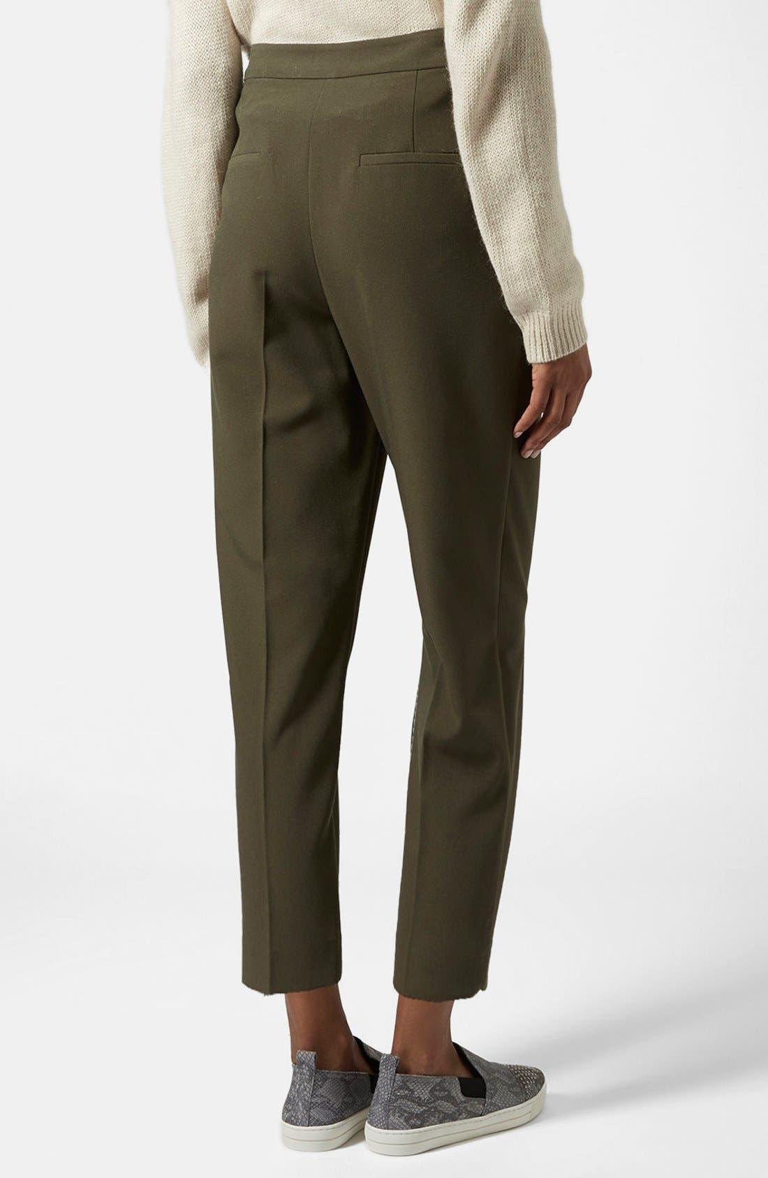 Alternate Image 2  - Topshop Straight Leg Crop Pants