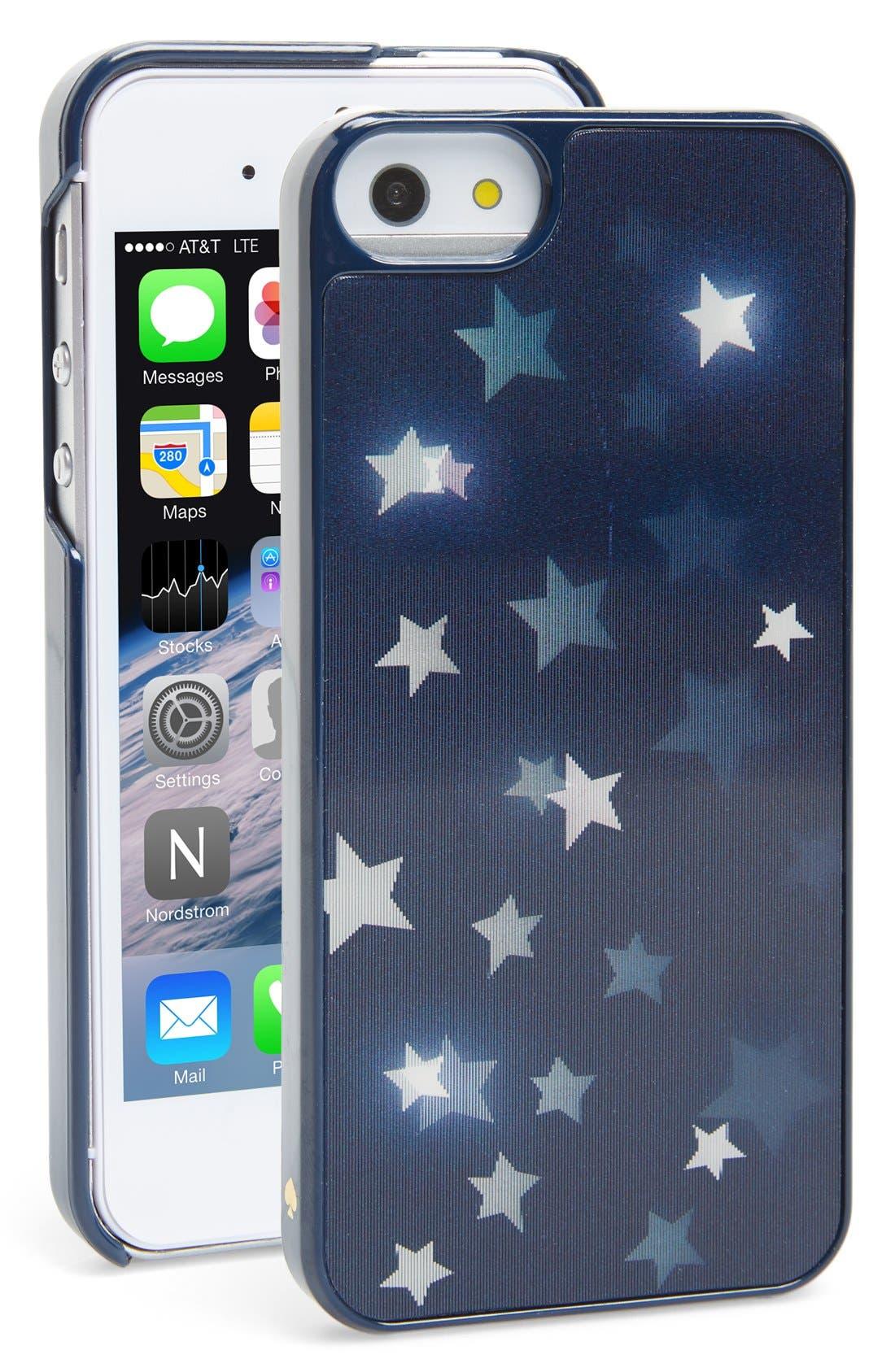 Alternate Image 1 Selected - kate spade new york 'night sky' iPhone 5 & 5s case