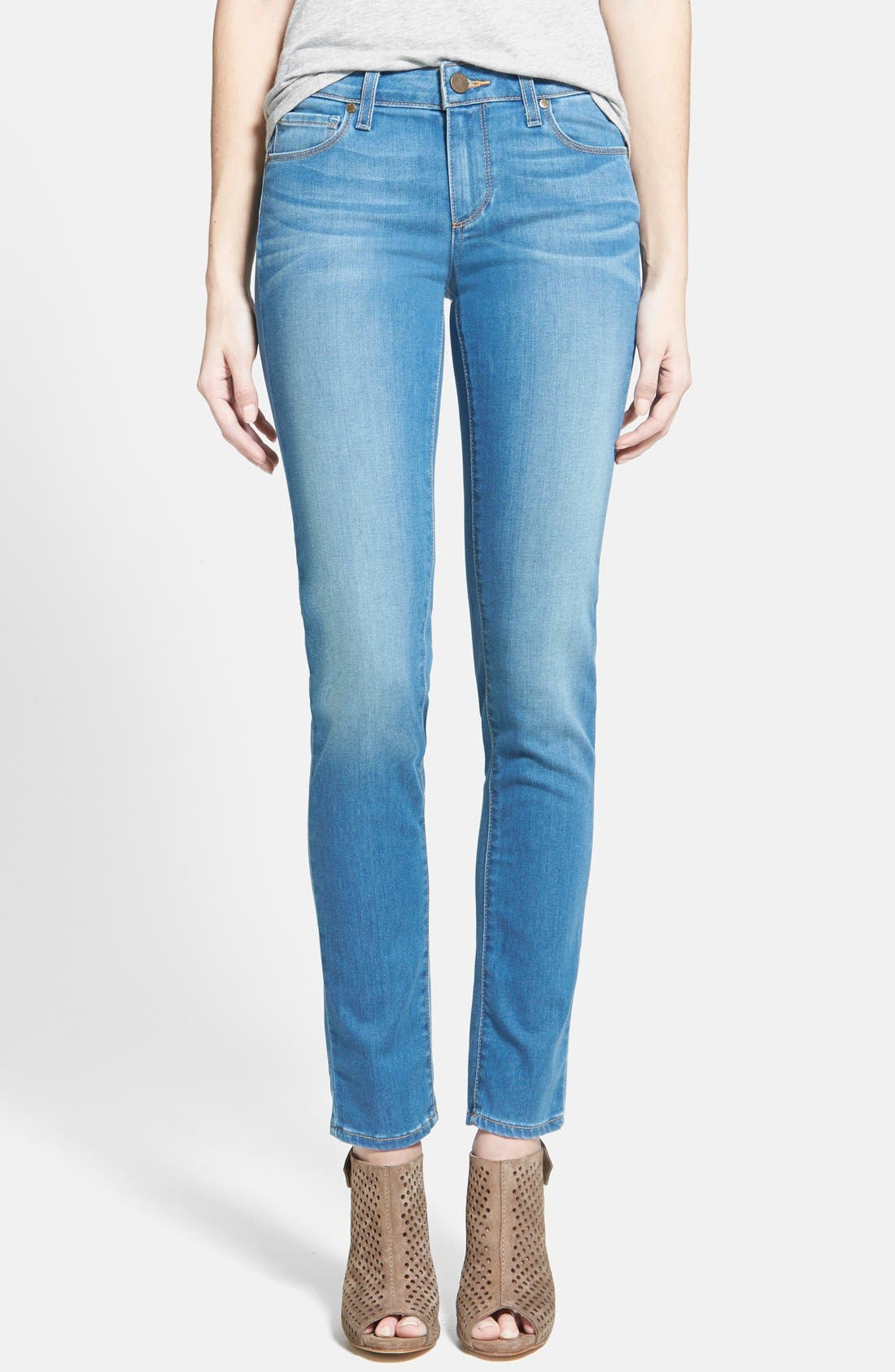 Alternate Image 1 Selected - Paige Denim 'Skyline' Skinny Jeans (Halstead Blue)
