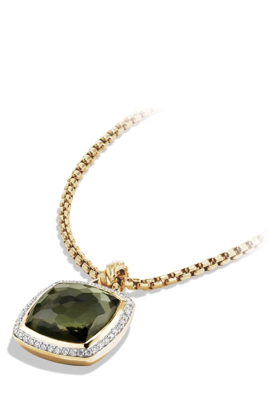Alternate Image 3  - David Yurman 'Albion' Pendant with Lemon Citrine and Diamonds in Gold