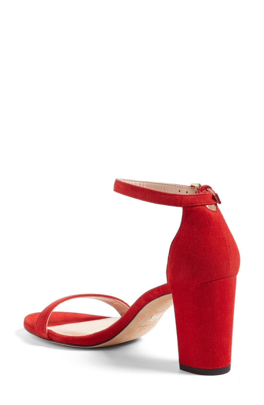 Alternate Image 2  - Stuart Weitzman NearlyNude Ankle Strap Sandal (Women)