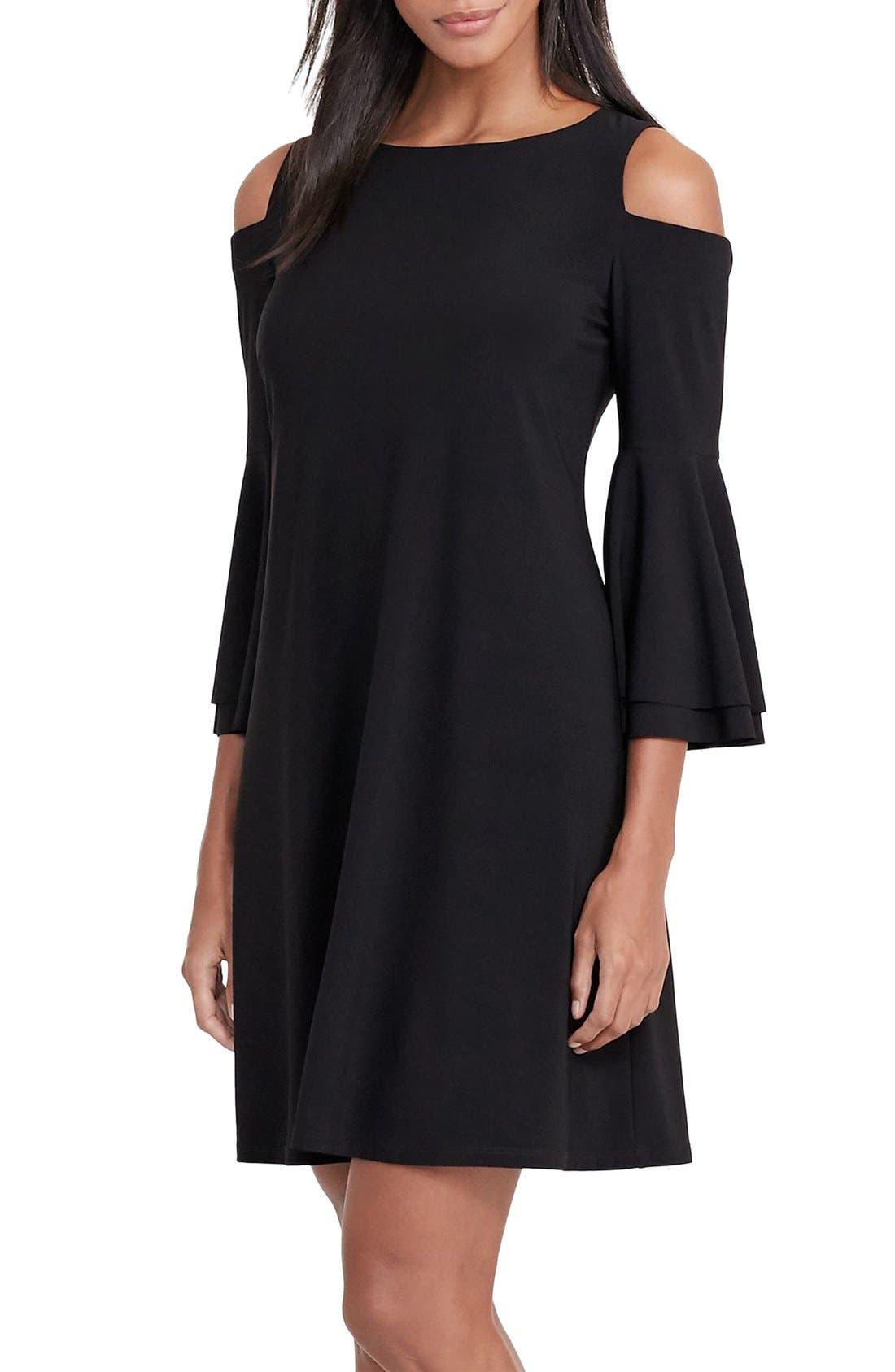 Main Image - Lauren Ralph Lauren Cold Shoulder Jersey A-Line Dress