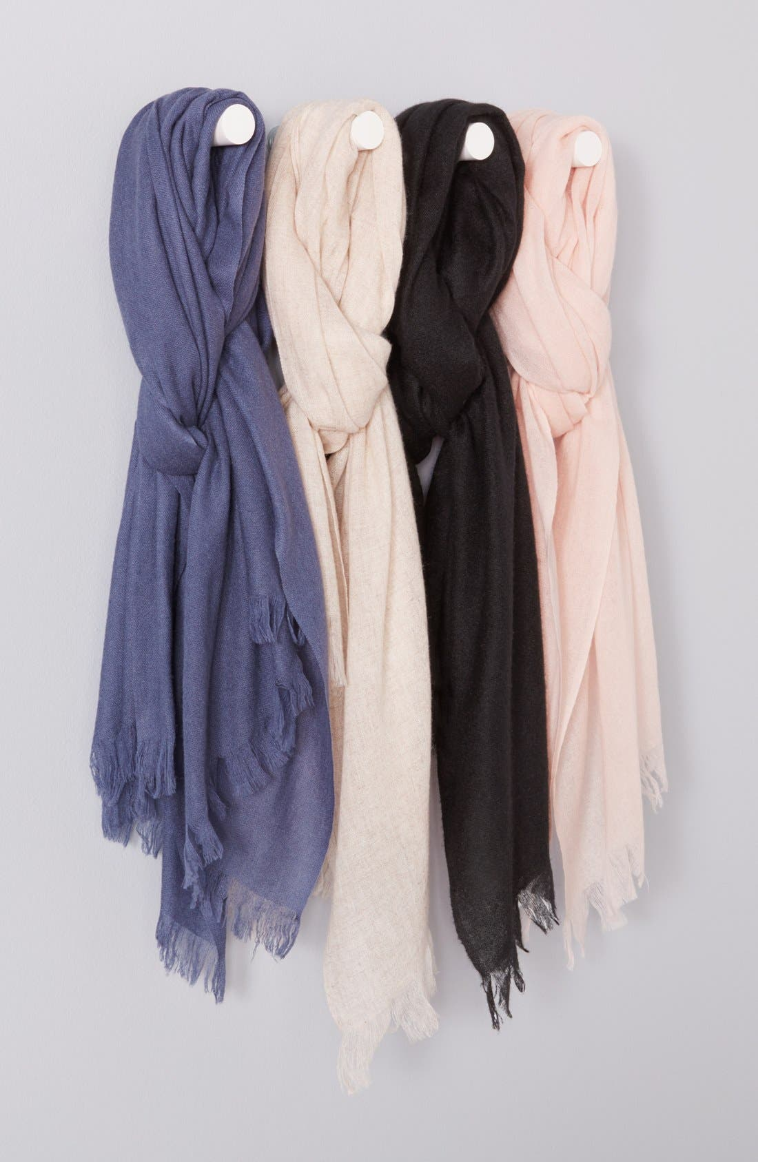 Alternate Image 4  - Caslon® Heathered Cashmere Gauze Scarf