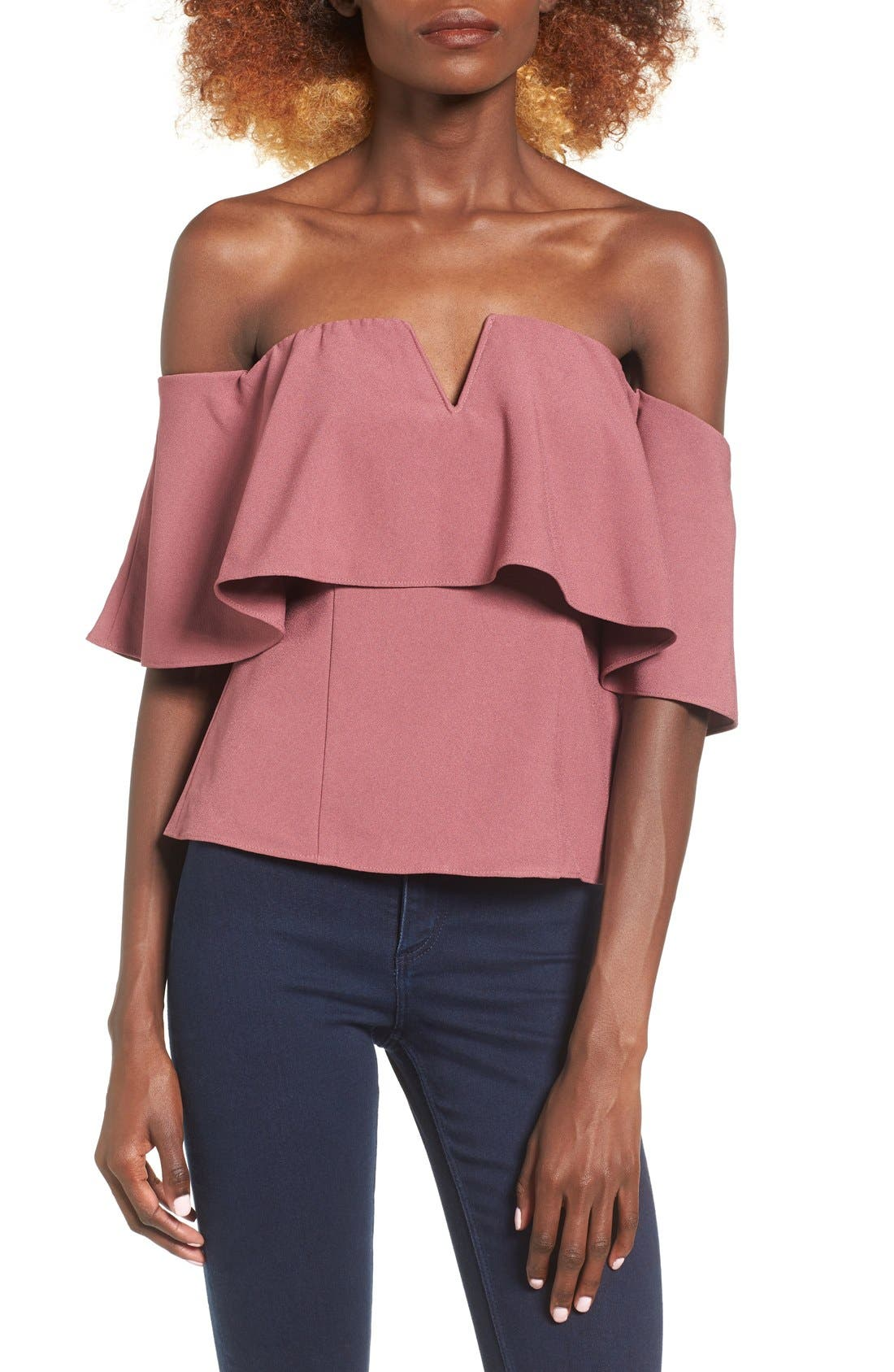 Main Image - Leith Off the Shoulder Top