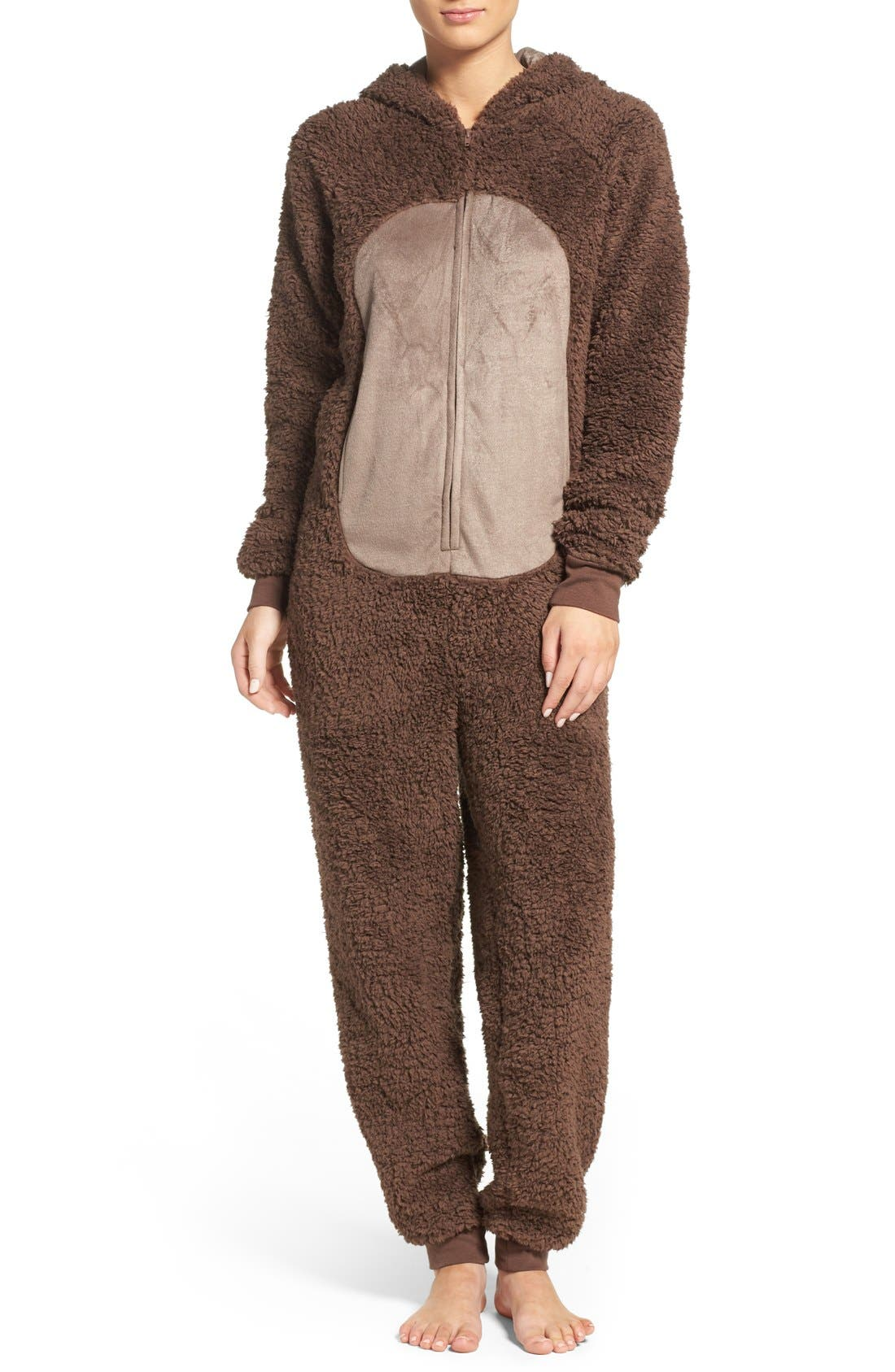 Alternate Image 1 Selected - COZY ZOE Critter One-Piece Pajamas