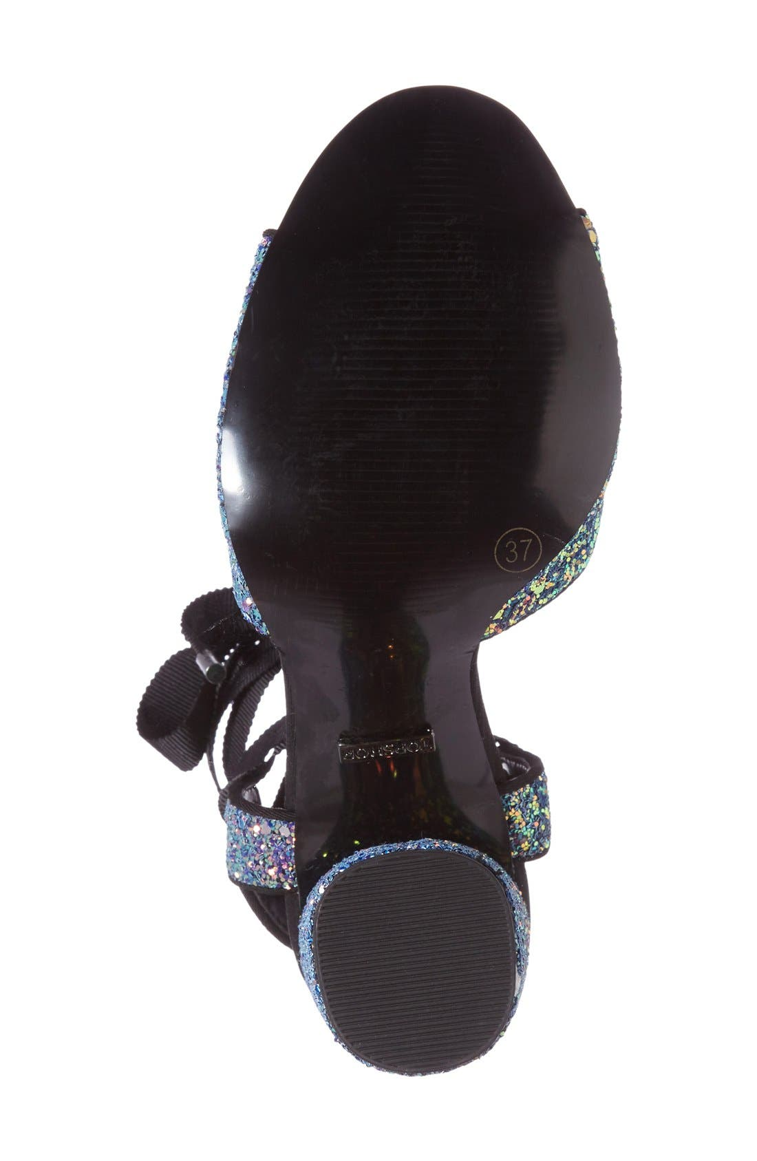 Alternate Image 4  - Topshop Royal Glitter Lace-Up Sandals (Women)