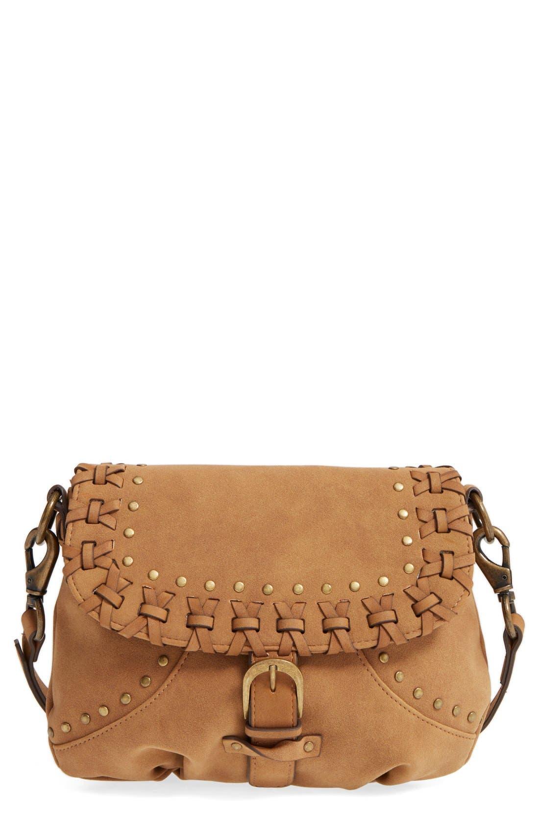 Main Image - Elle & Jae Gypset Sevilla Studded Faux Suede Crossbody Bag