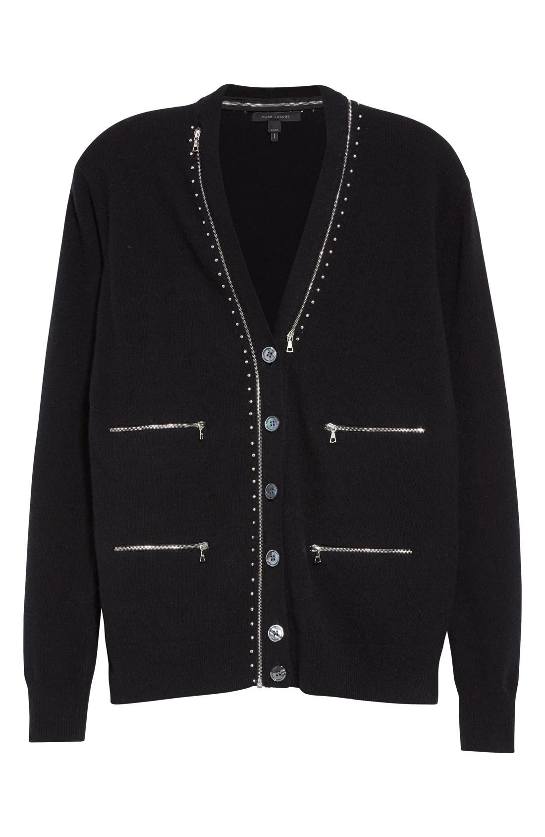 Alternate Image 4  - MARC JACOBS Zip Detail Wool Cardigan