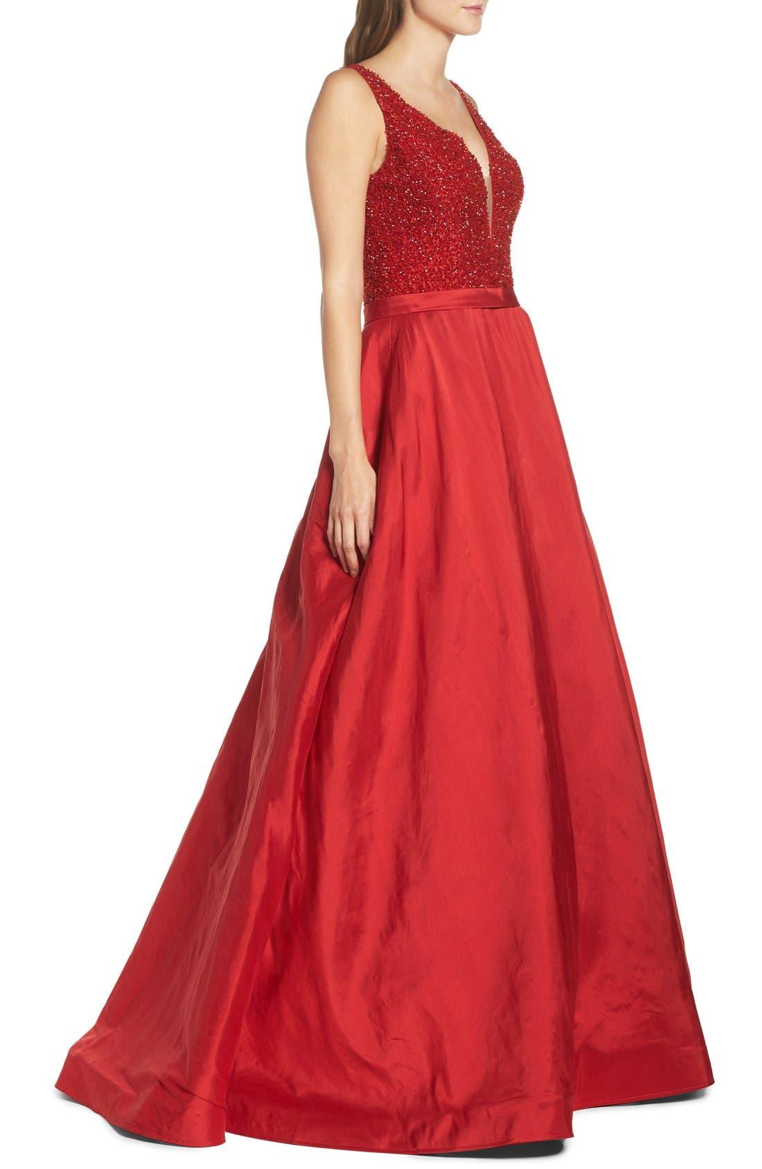 Alternate Image 3  - Jovani Embellished Silk Gown