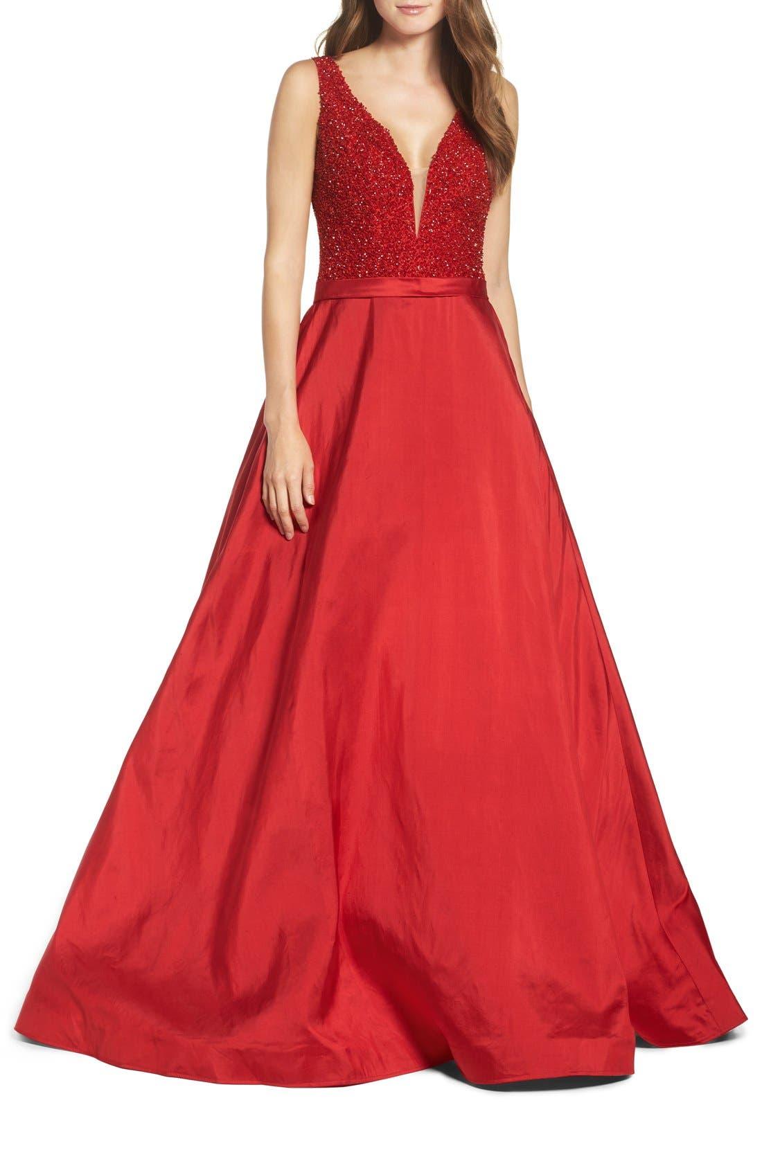 Main Image - Jovani Embellished Silk Gown