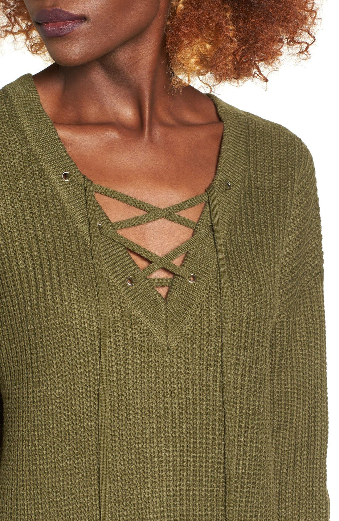 Alternate Image 4  - Love by Design Lace-Up Sweater