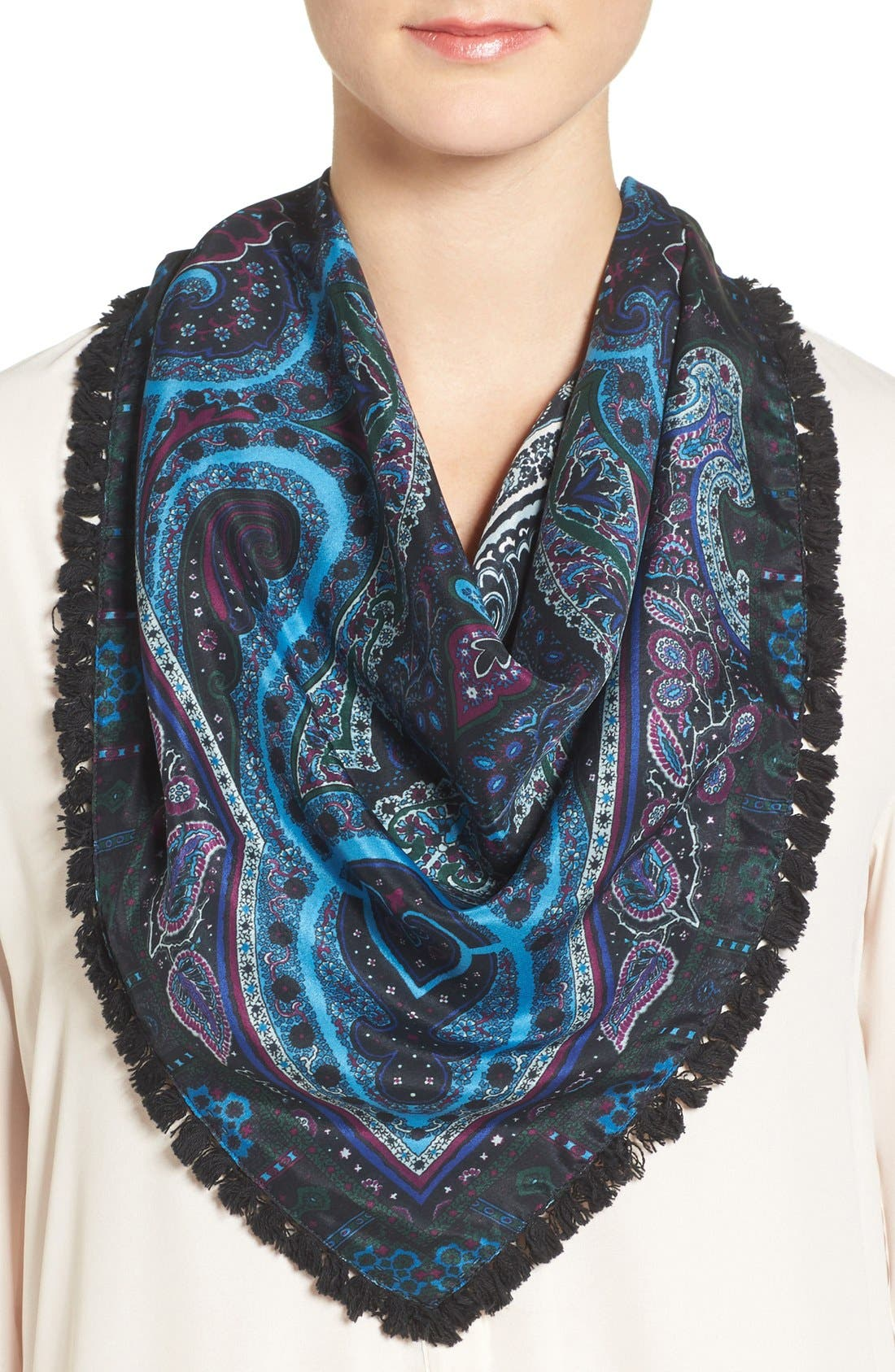 Alternate Image 1 Selected - Echo Paisley Silk Triangle Scarf