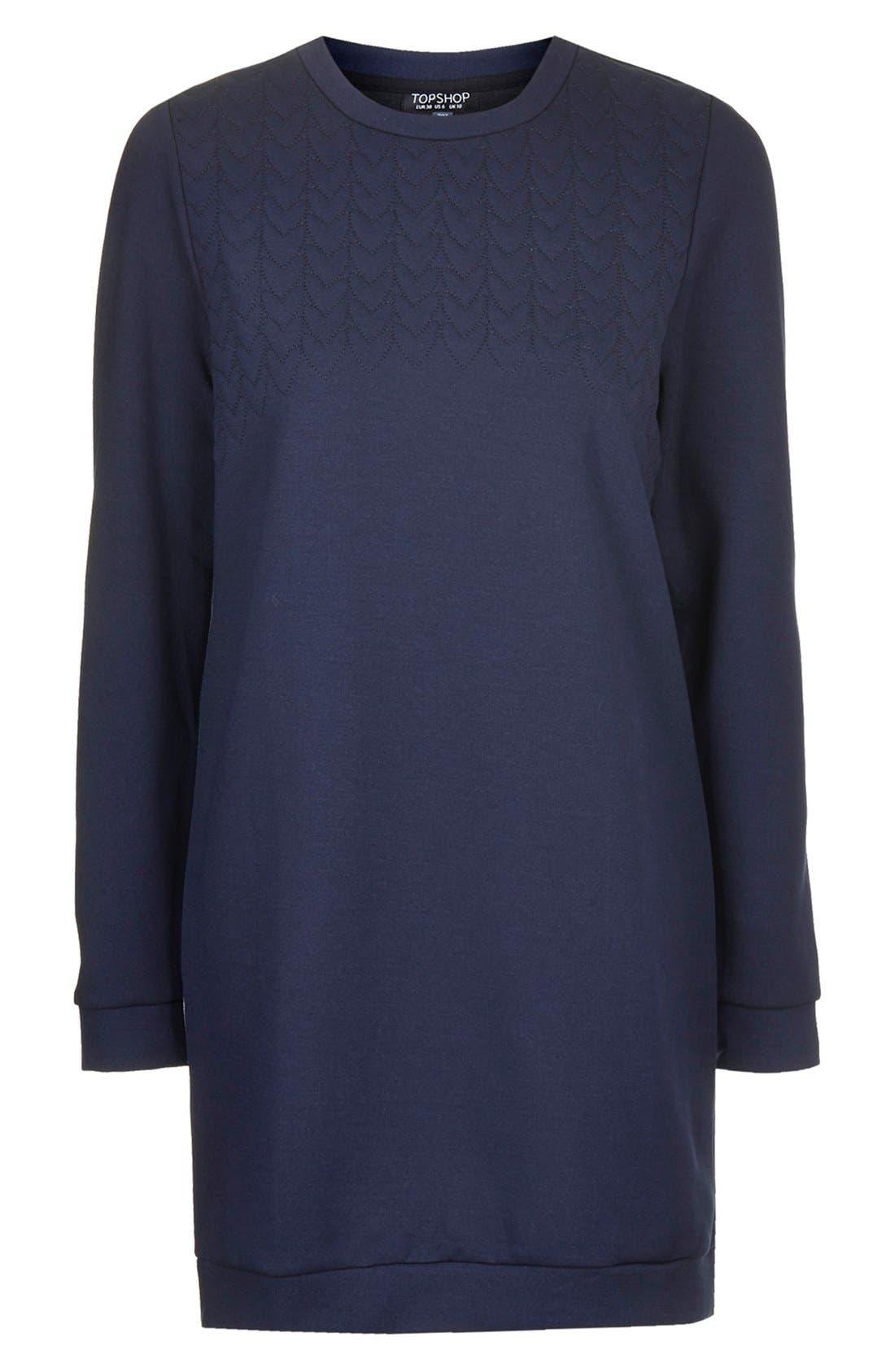 Alternate Image 3  - Topshop Quilted Sweatshirt Dress