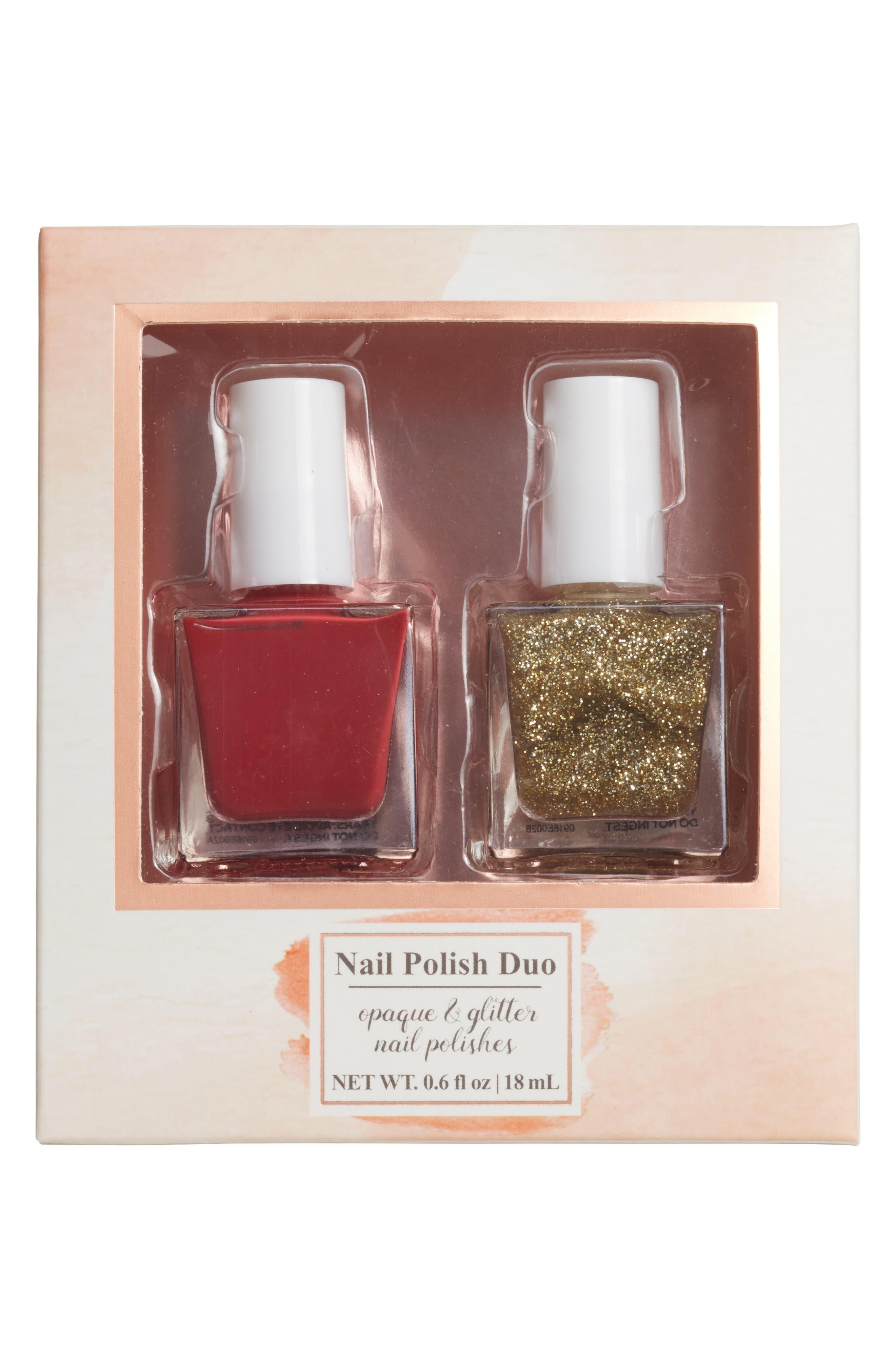 Main Image - Lulu 2-Pack Glitter Nail Polish Set
