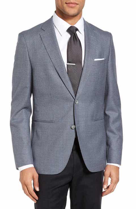 BOSS Jedson Trim Fit Check Wool Sport Coat