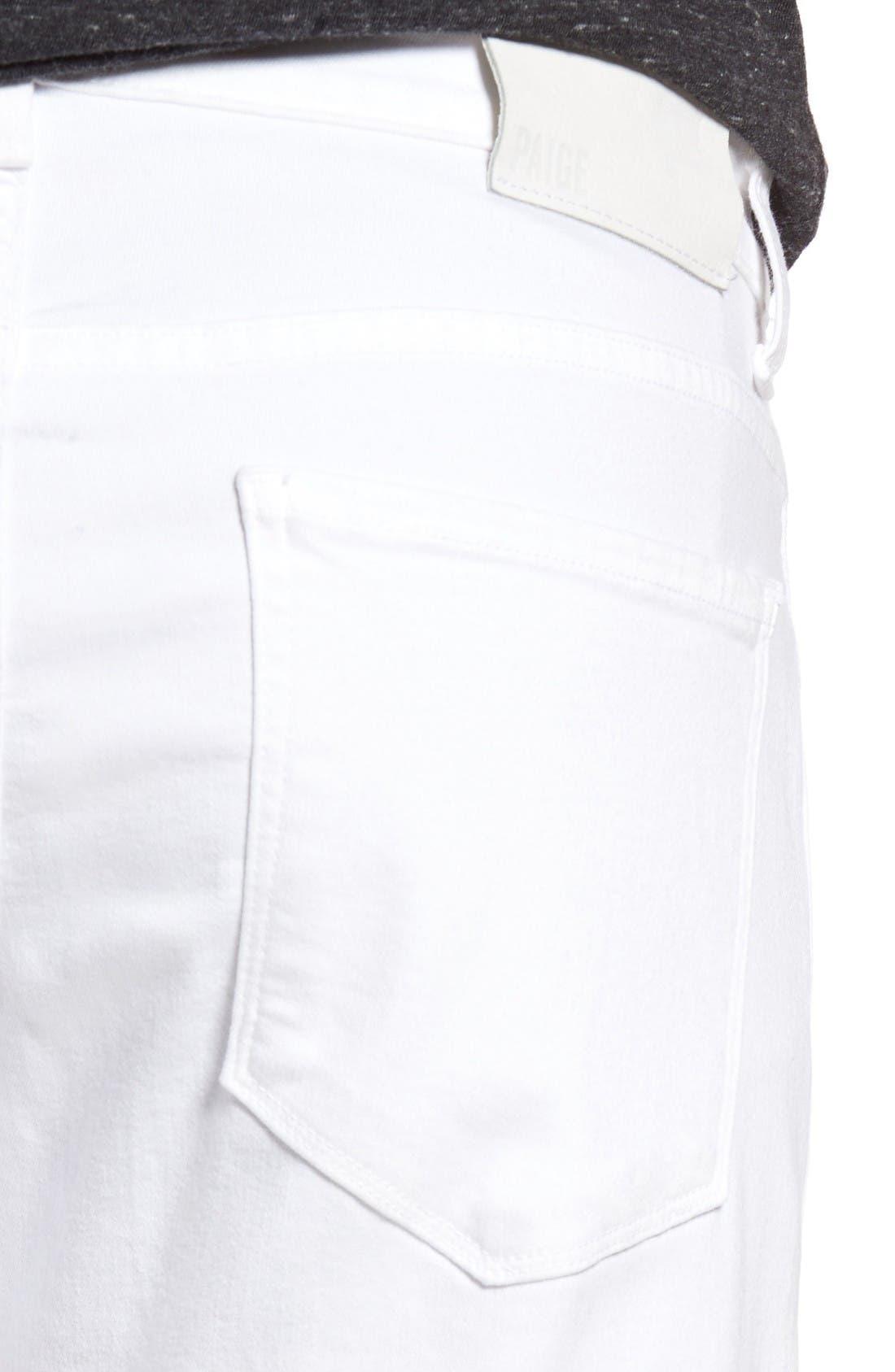 Alternate Image 4  - PAIGE Transcend - Lennox Slim Fit Jeans (Icecap)