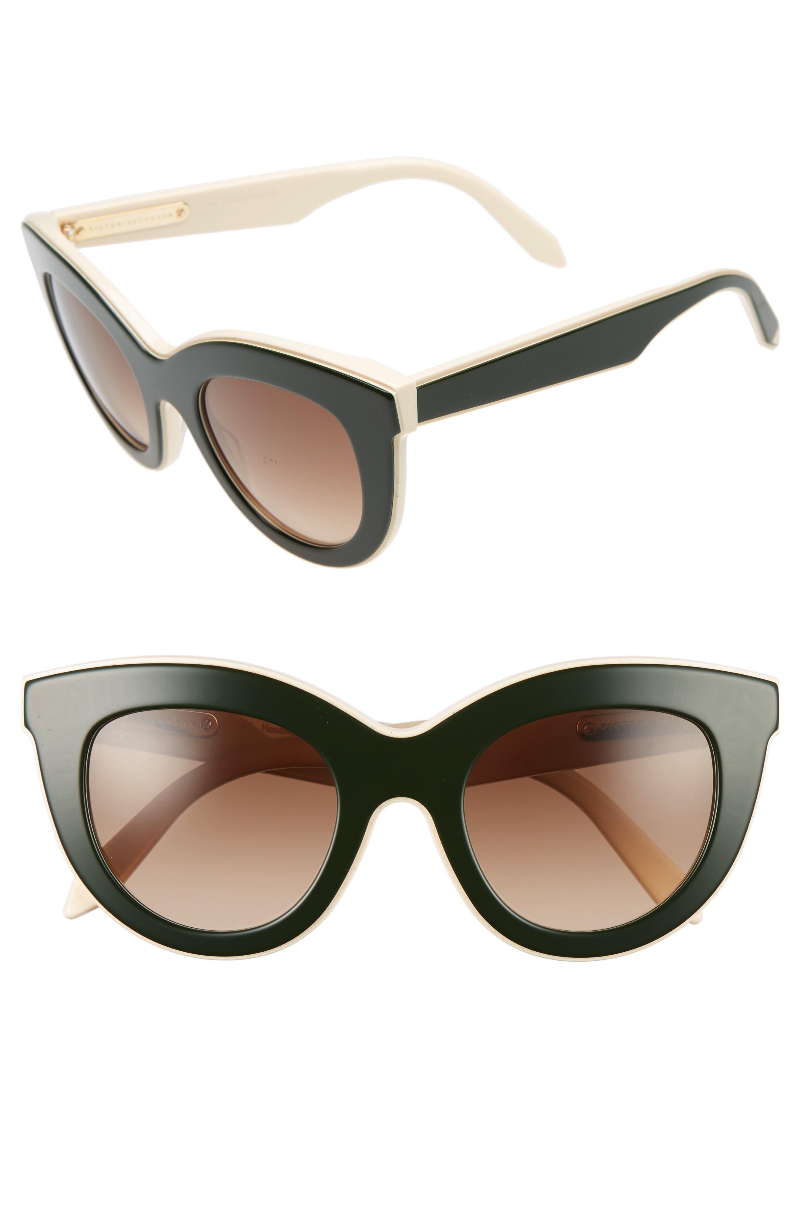 Victoria Beckham 49mm Cat Eye Sunglasses