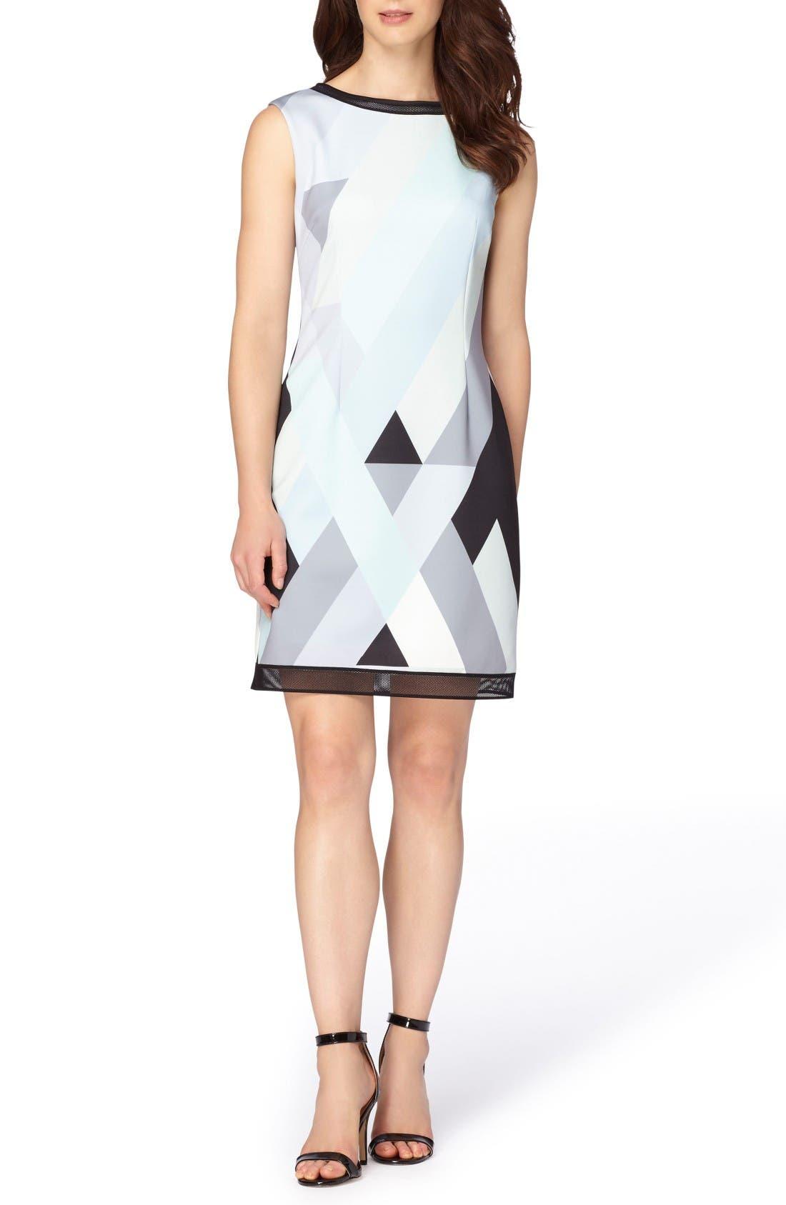 Alternate Image 3  - Tahari Print Scuba Sheath Dress (Regular & Petite)