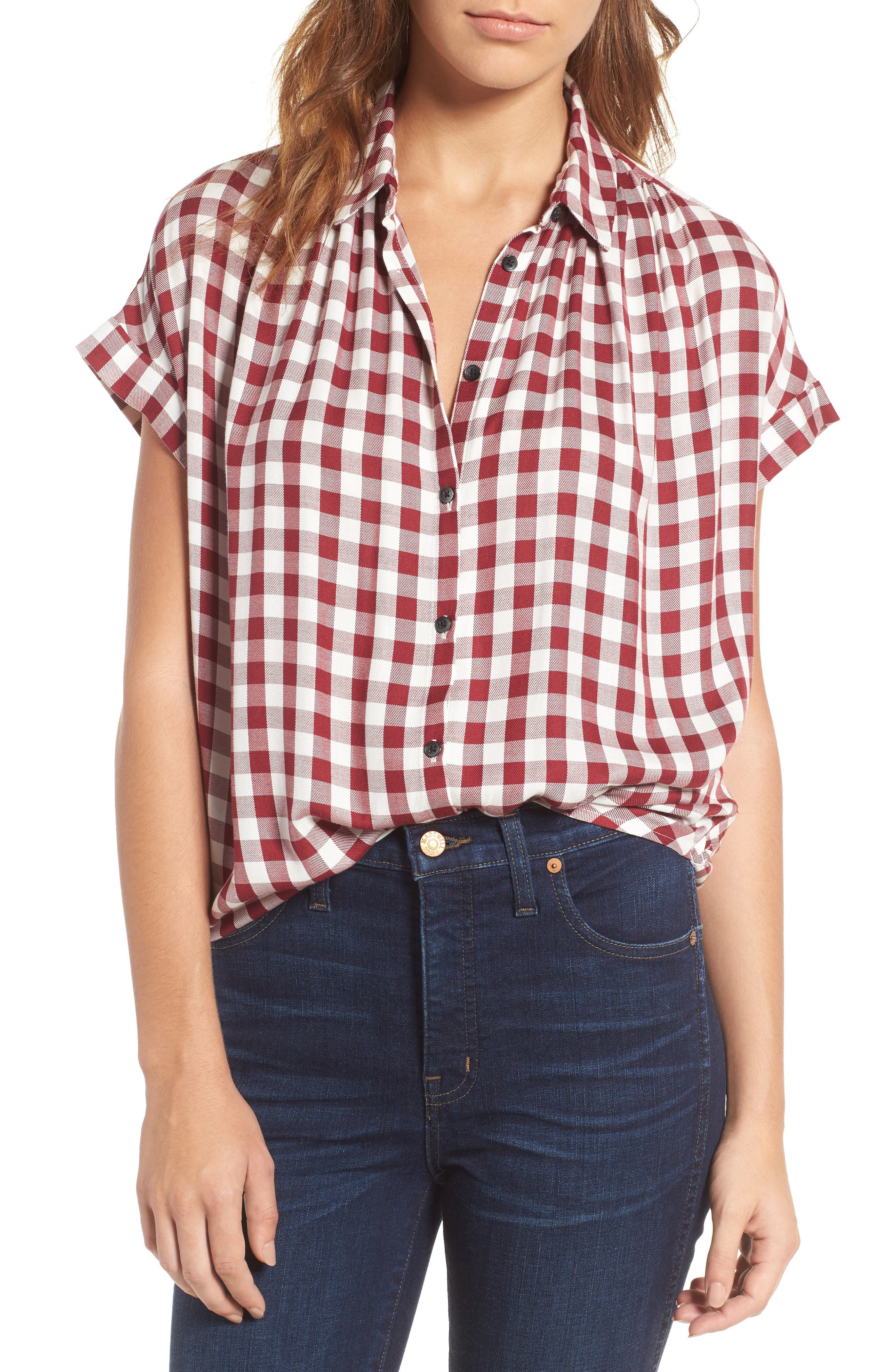 Alternate Image 1 Selected - Madewell Plaid Courier Shirt