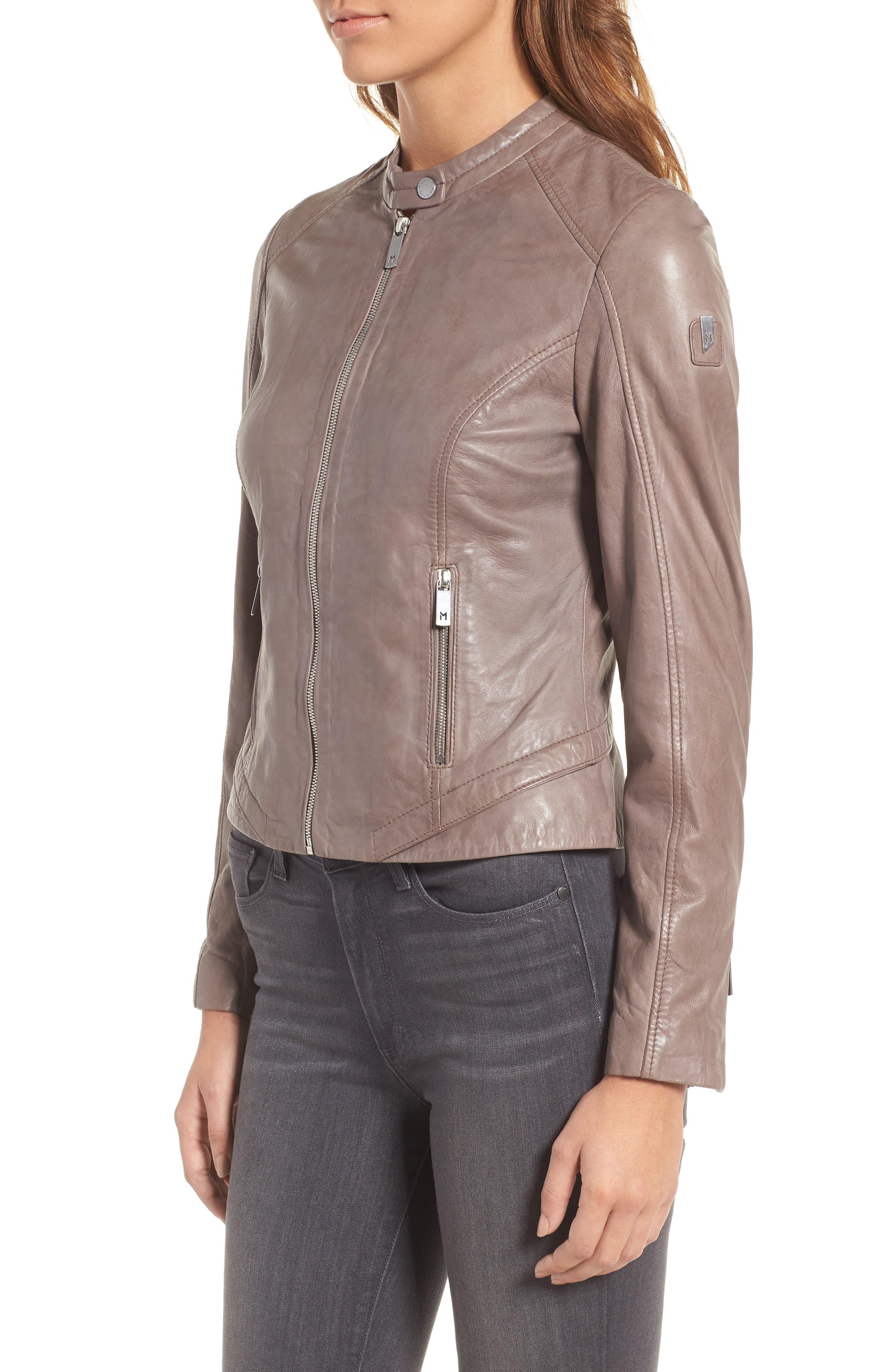 Alternate Image 3  - Mauritius Leather Lambskin Leather Moto Jacket