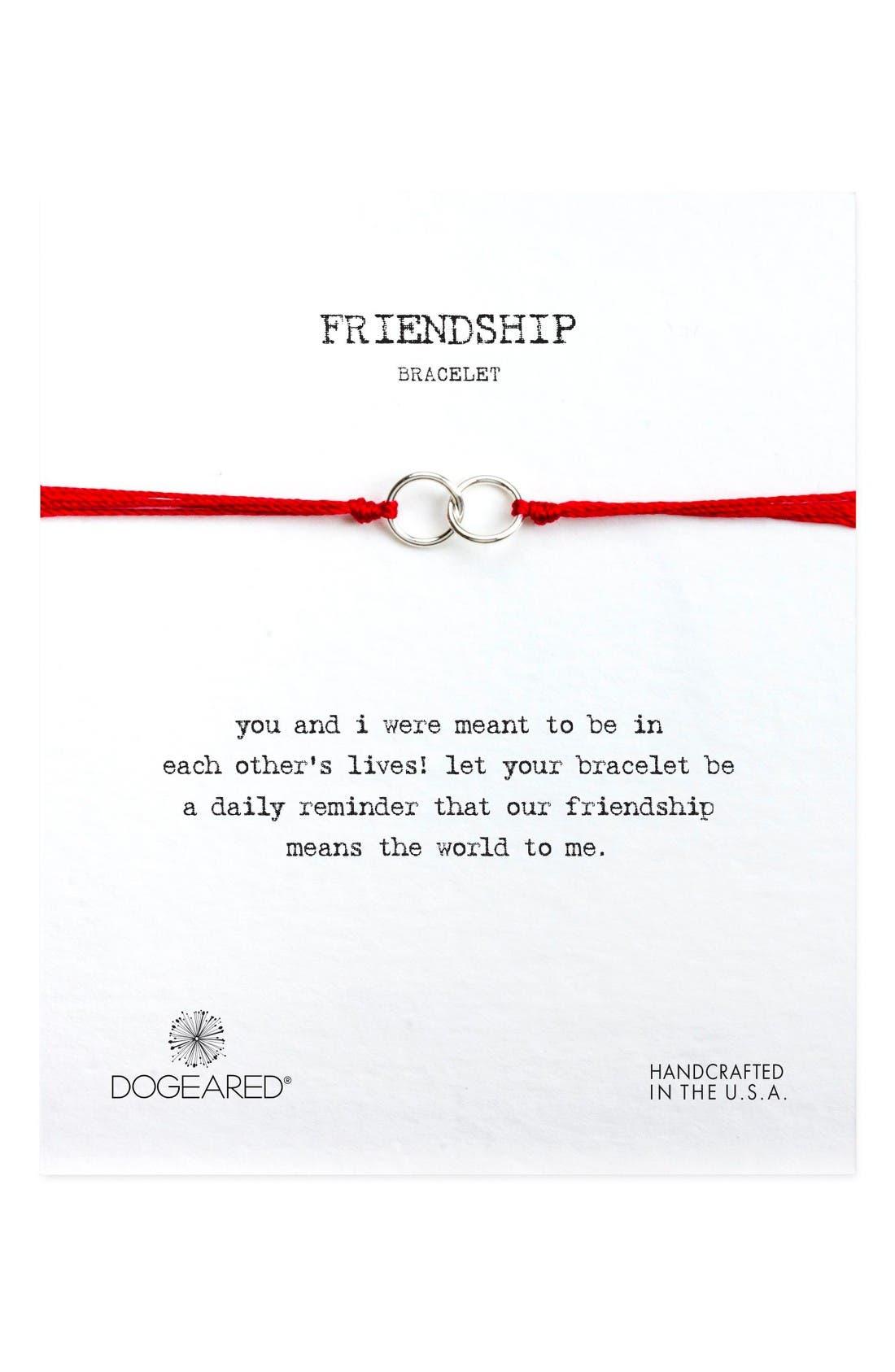 Main Image - Dogeared Double Linked Friendship Bracelet