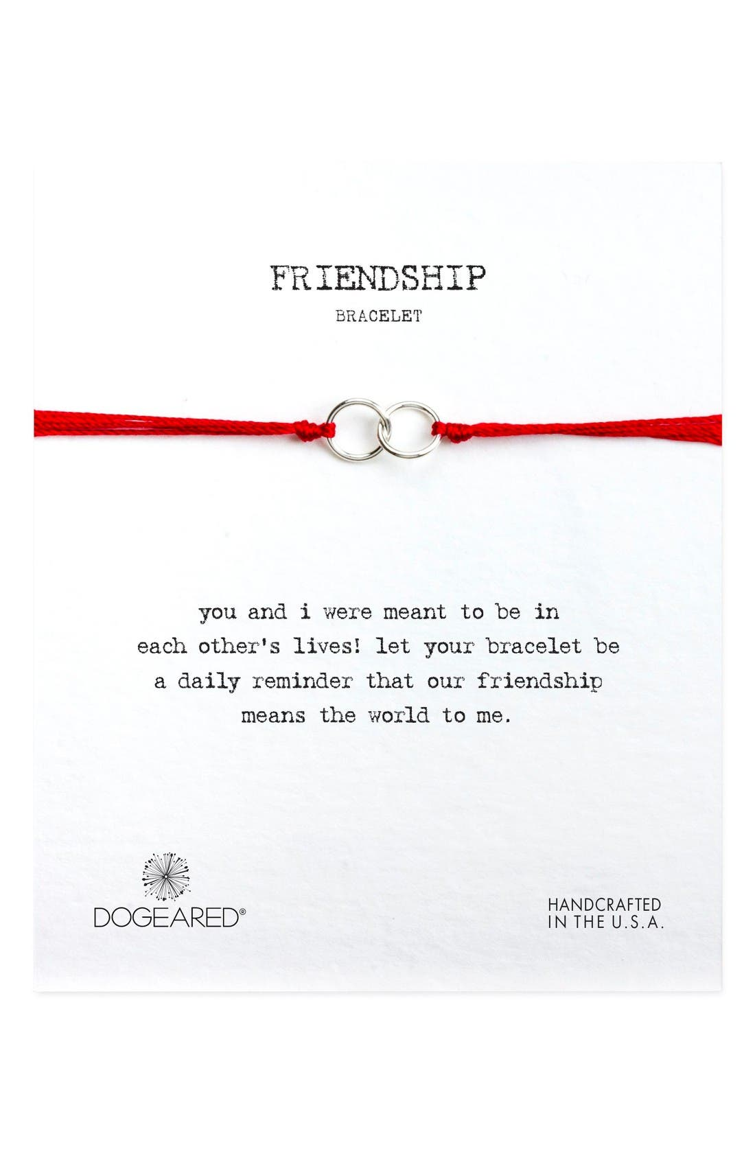 Dogeared Double Linked Friendship Bracelet