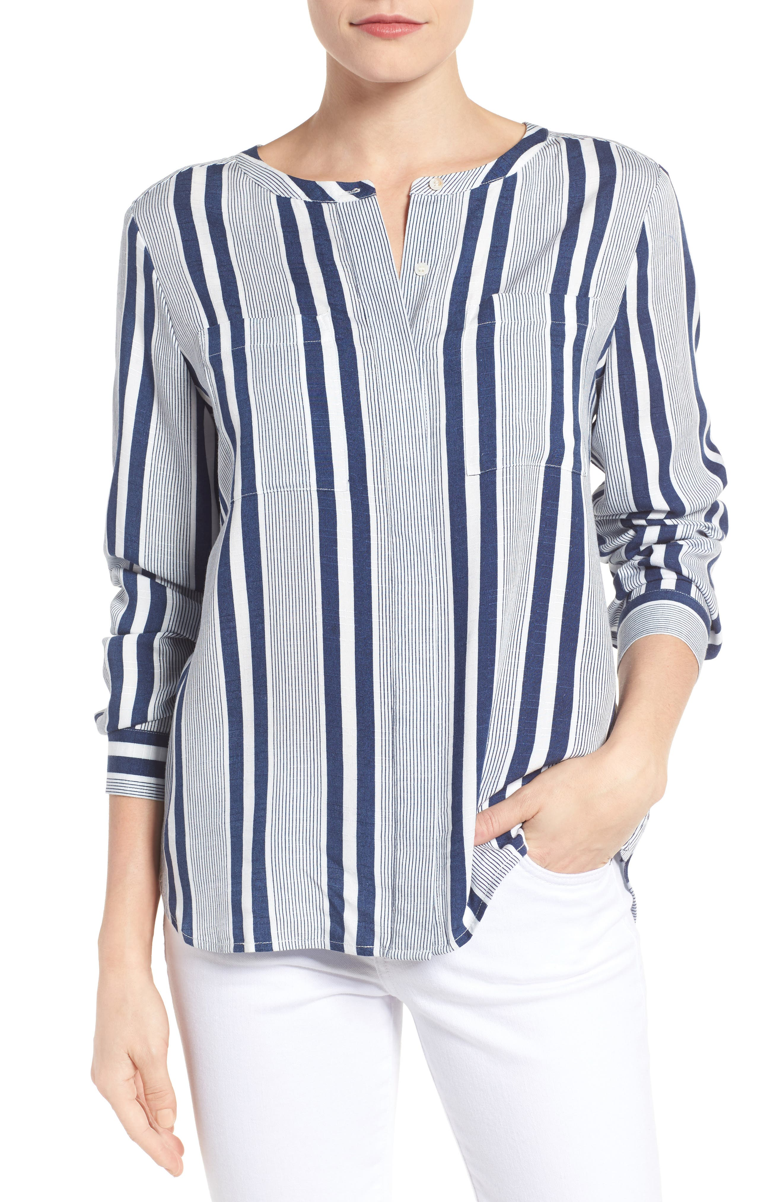 Alternate Image 1 Selected - Two by Vince Camuto Stripe Blouse