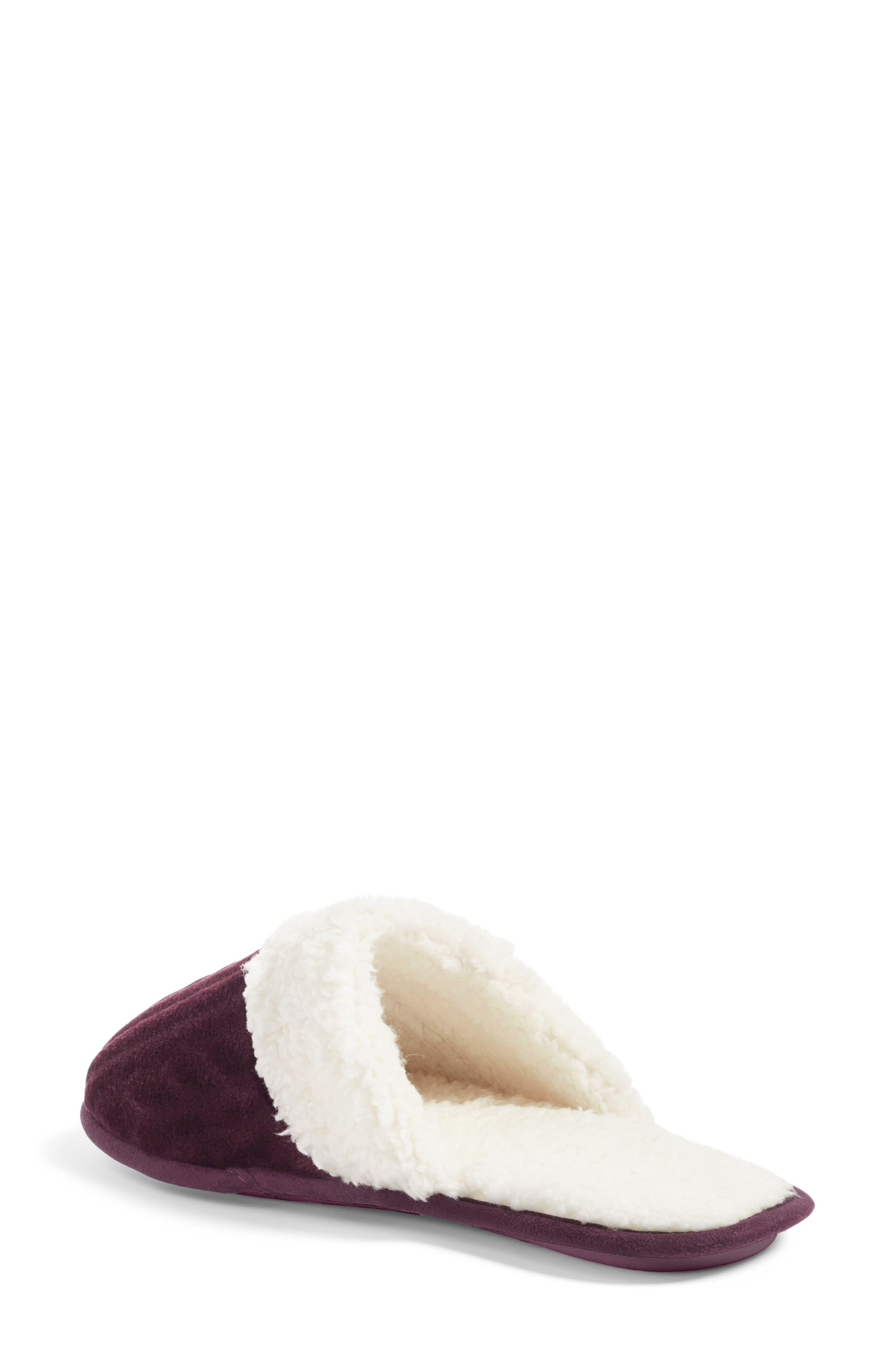 Alternate Image 2  - Nordstrom Plush Scuff Slipper (Women)