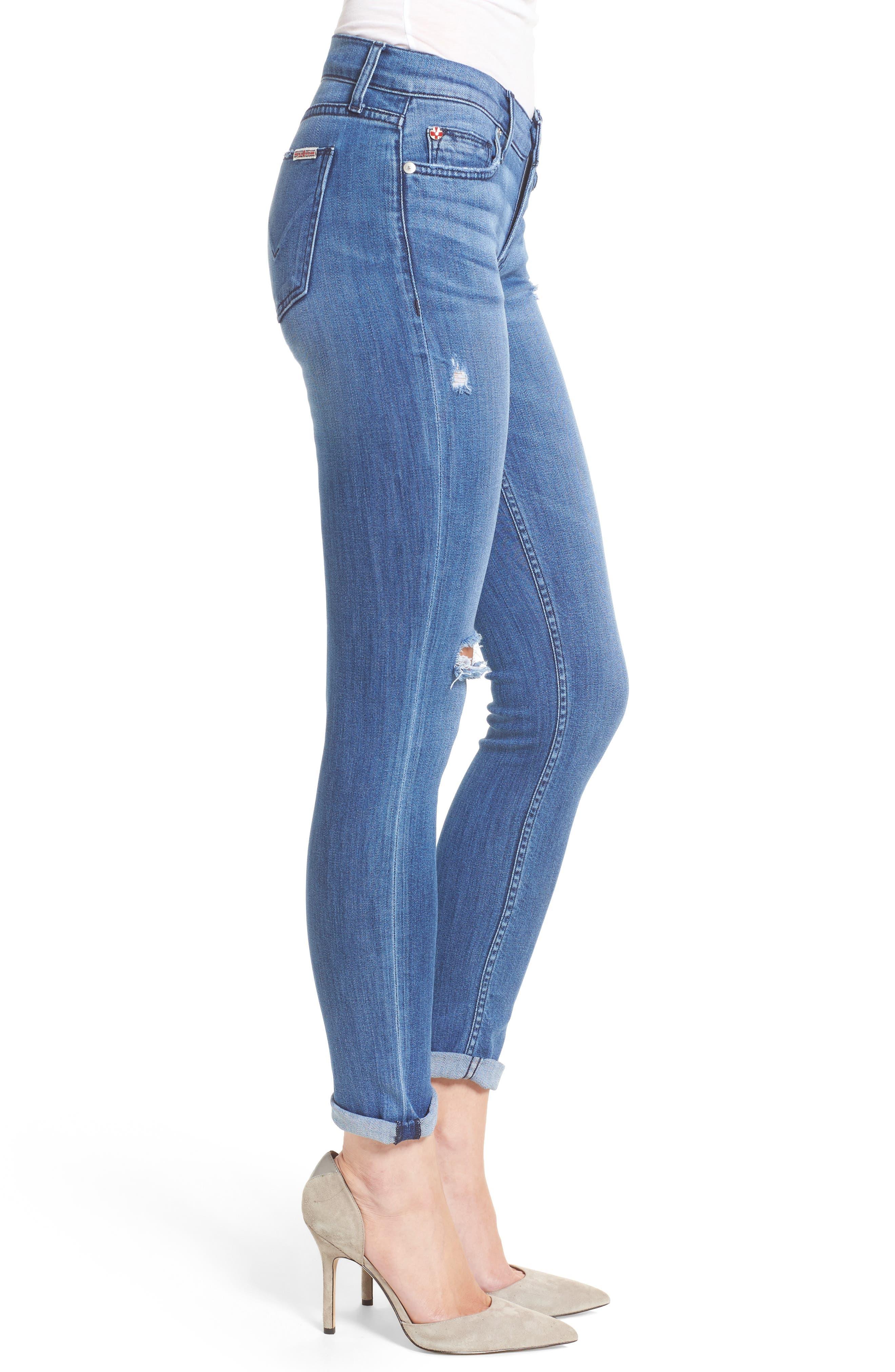 Alternate Image 3  - Hudson Tally Crop Skinny Jeans (Encounter)
