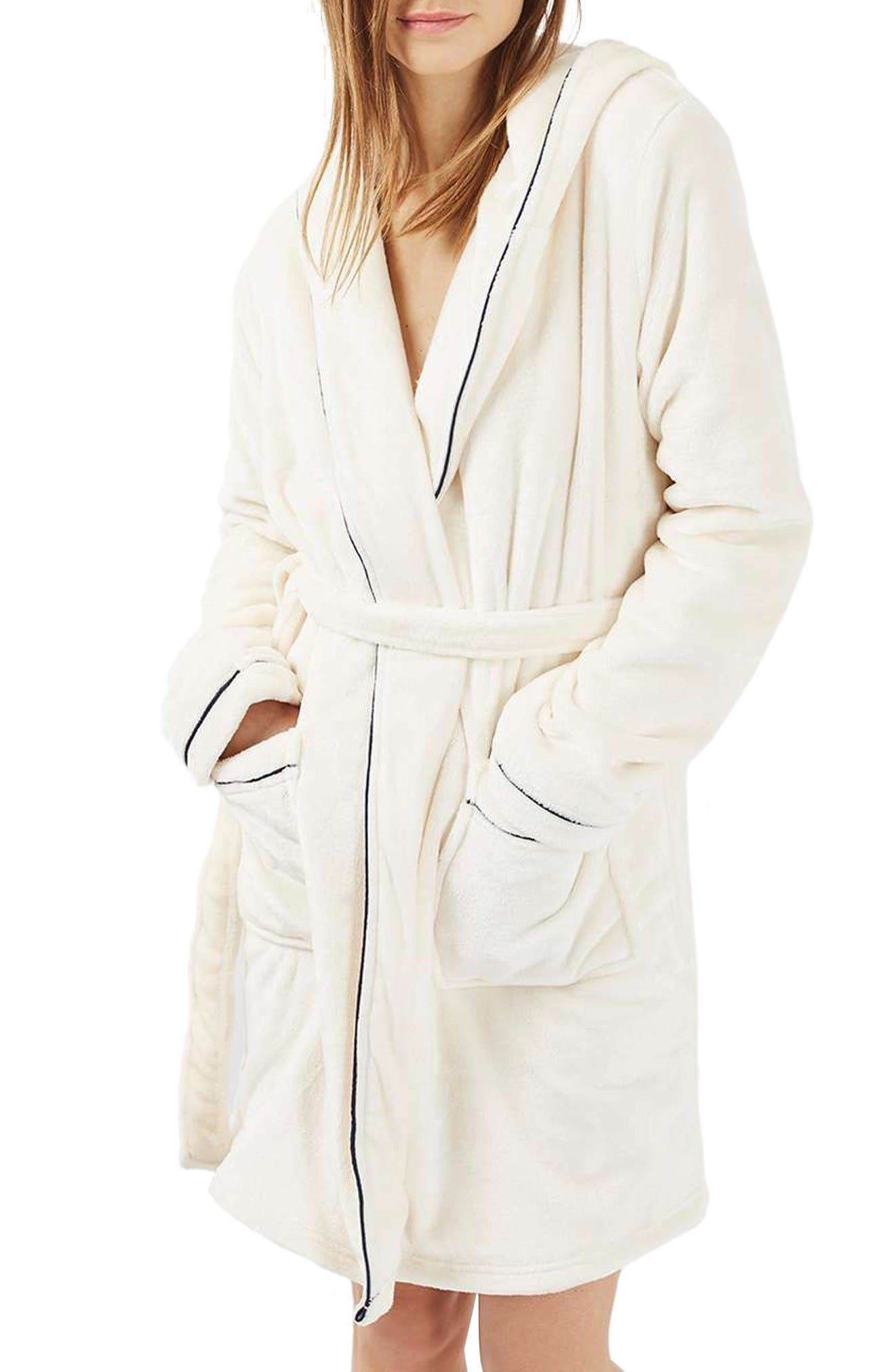 Alternate Image 1 Selected - Topshop Not a Morning Person Hooded Robe