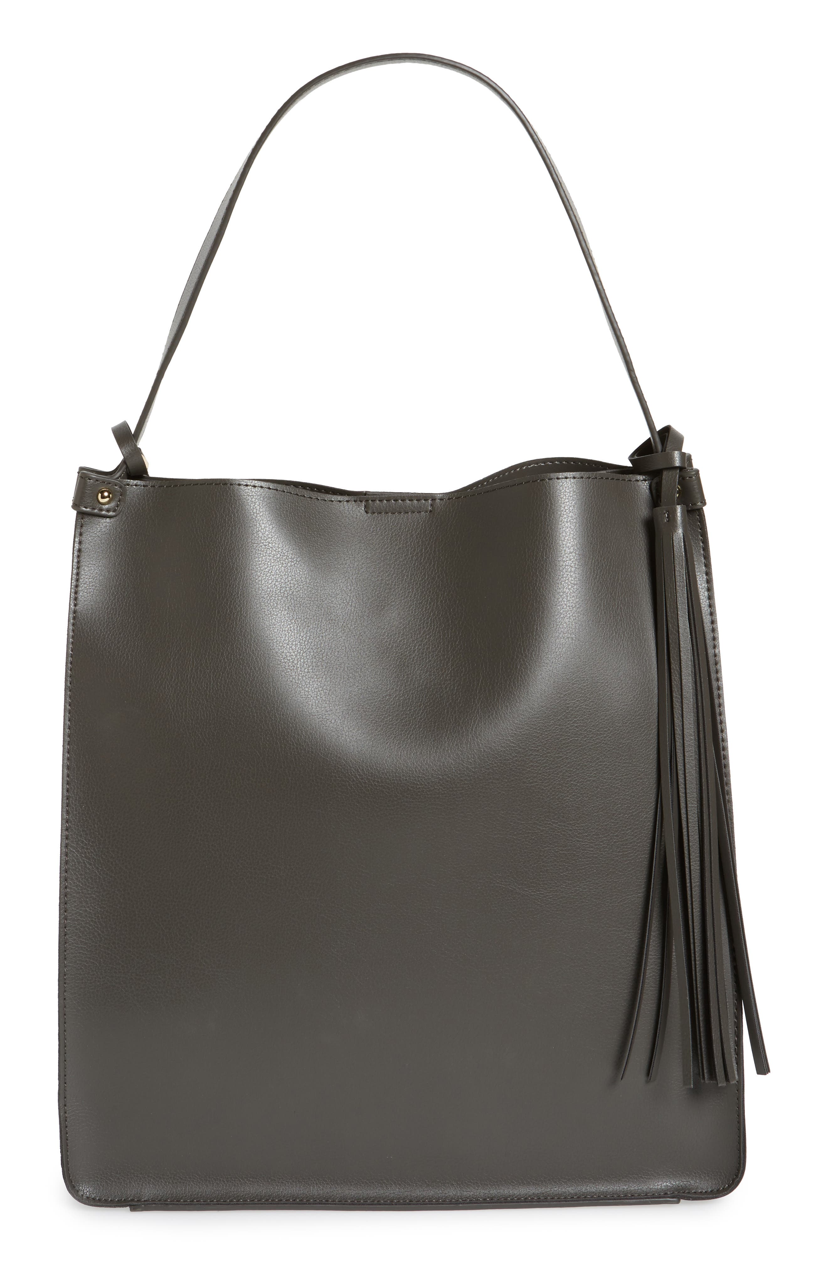 Alternate Image 1 Selected - Sole Society Karlie Faux Leather Bucket Bag