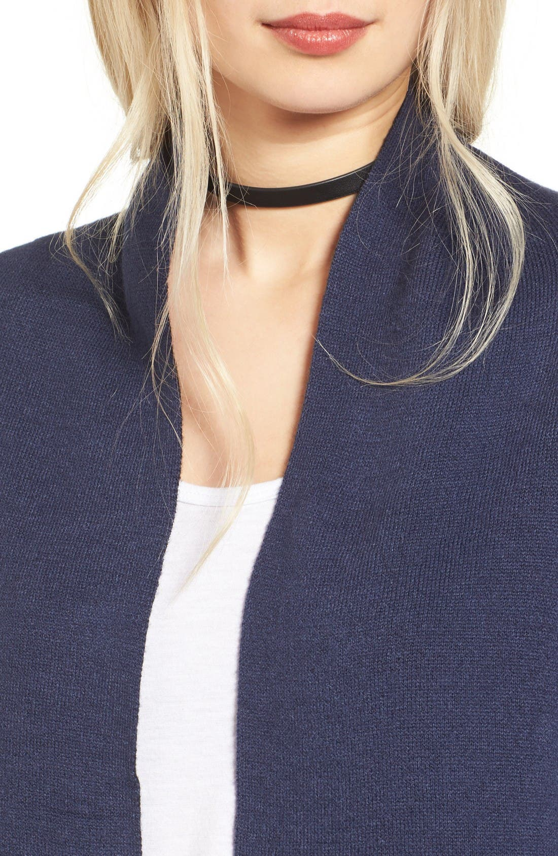 Alternate Image 4  - Love by Design Two-Tone Open Front Cardigan