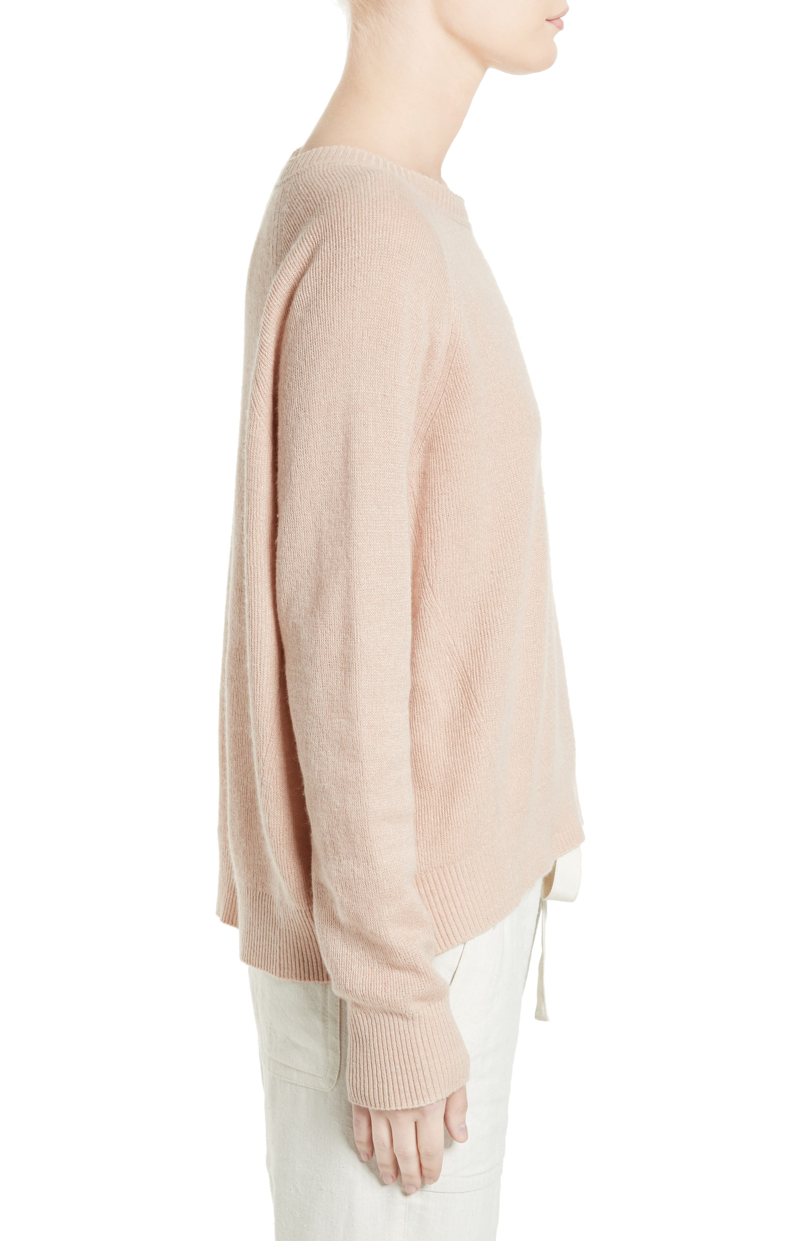 Alternate Image 3  - Vince Boxy Cashmere & Linen Pullover