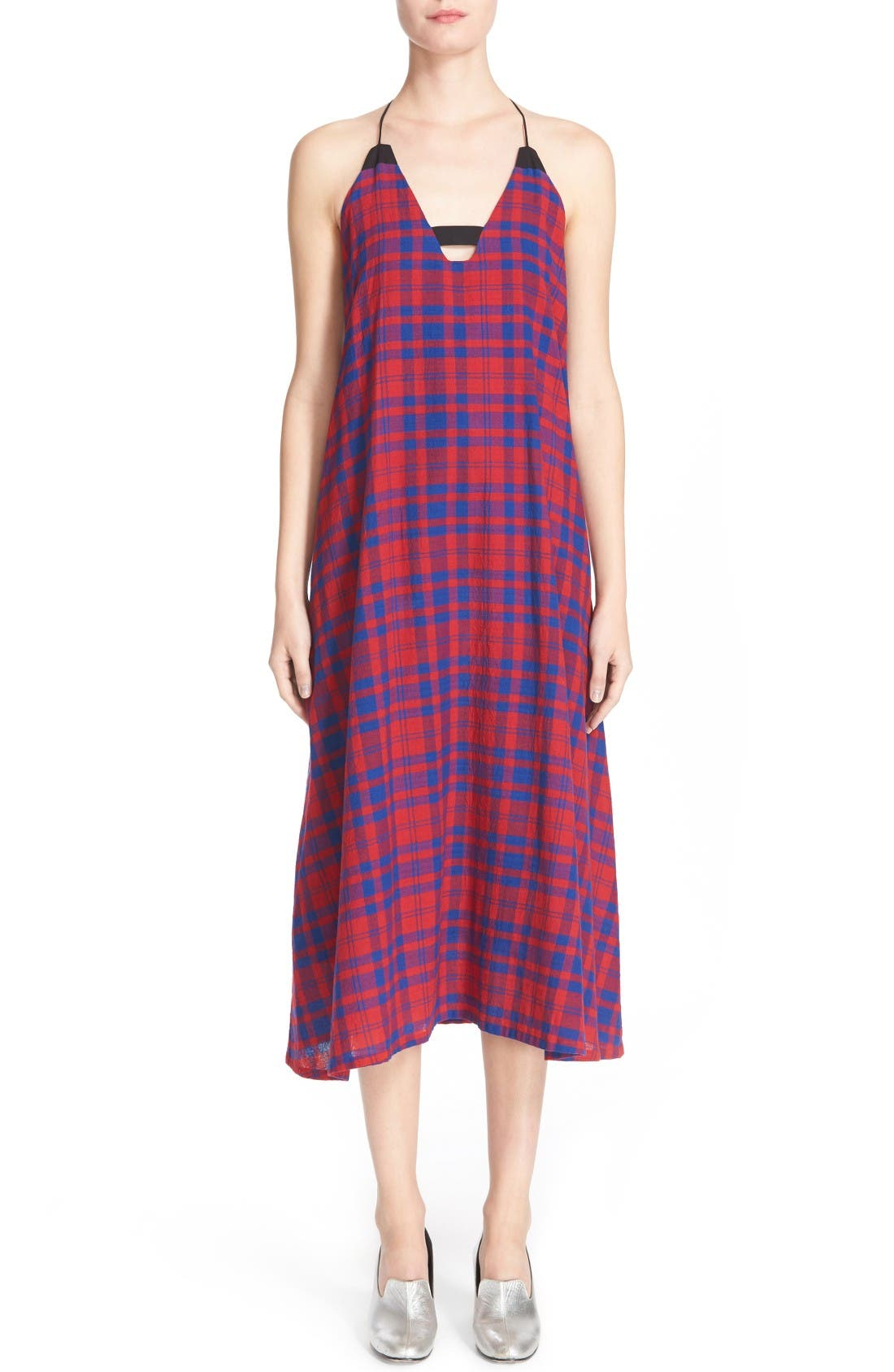 RACHEL COMEY Opata Cotton Plaid Midi Dress