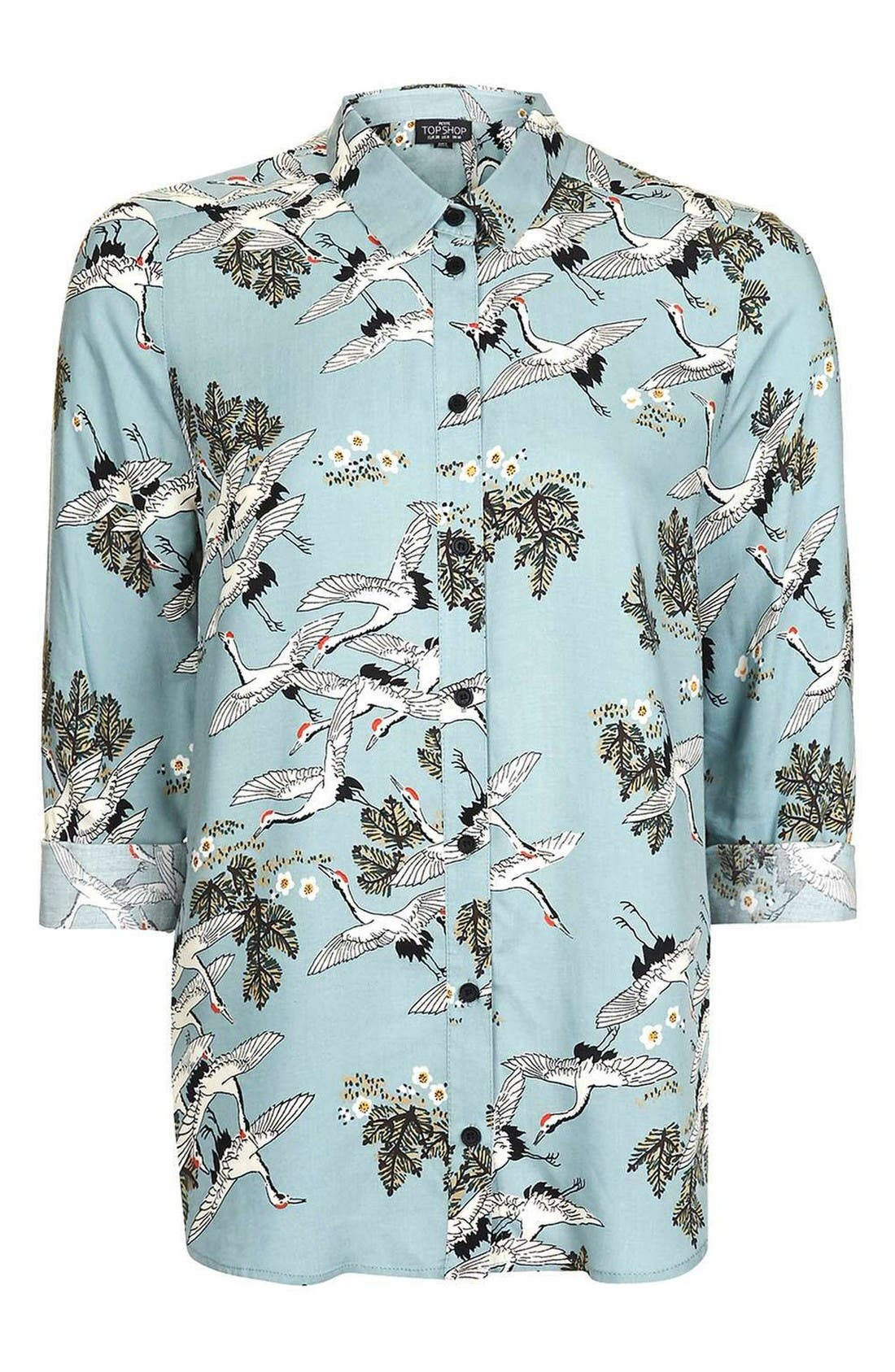 Alternate Image 4  - Topshop Birds in Flight Print Shirt