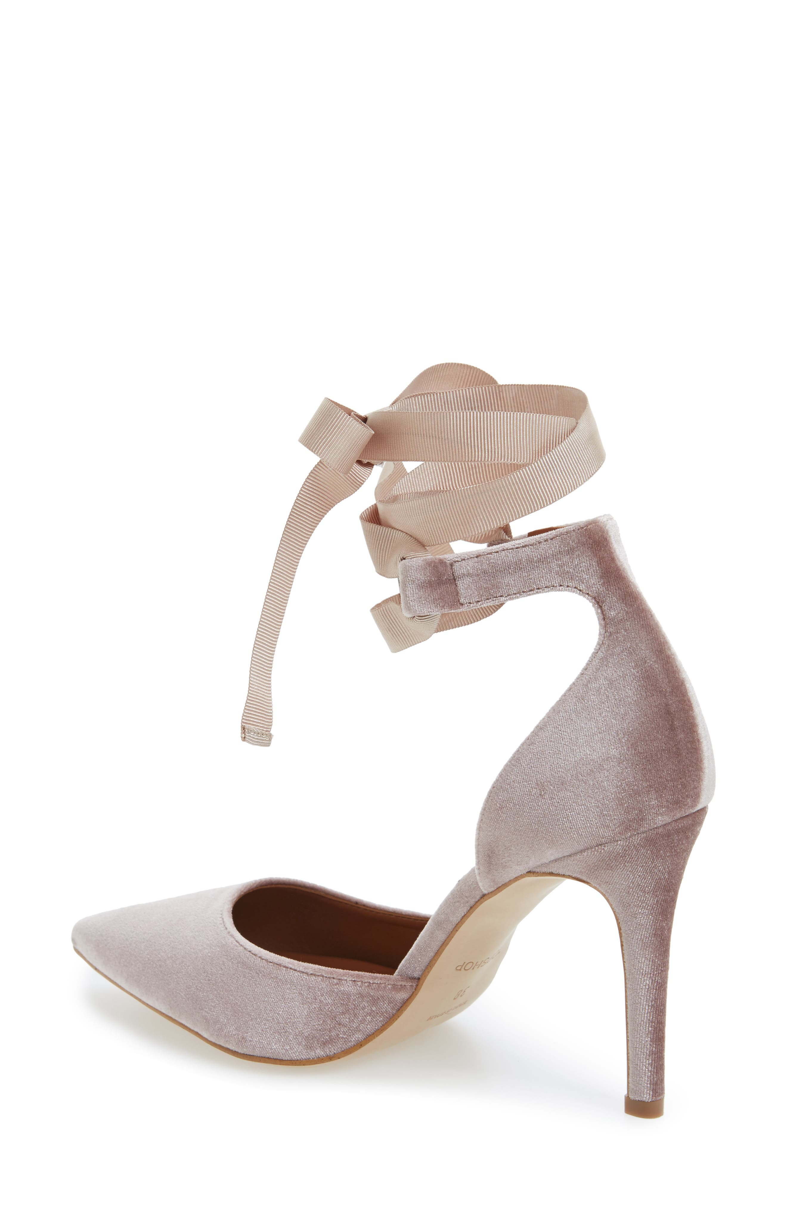 Alternate Image 2  - Topshop Graceful Ankle Tie d'Orsay Pump (Women)