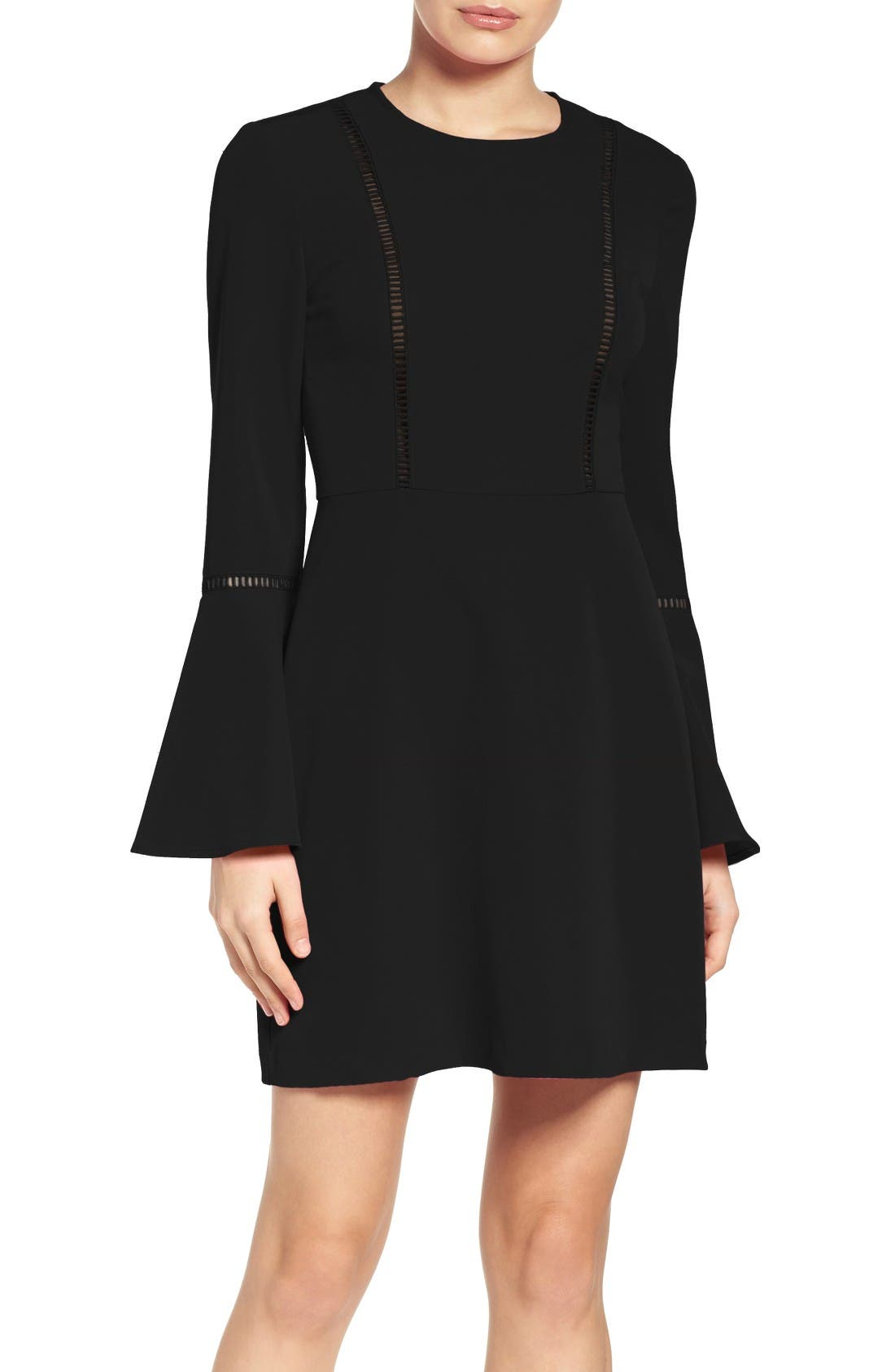 Main Image - Charles Henry Fit & Flare Dress