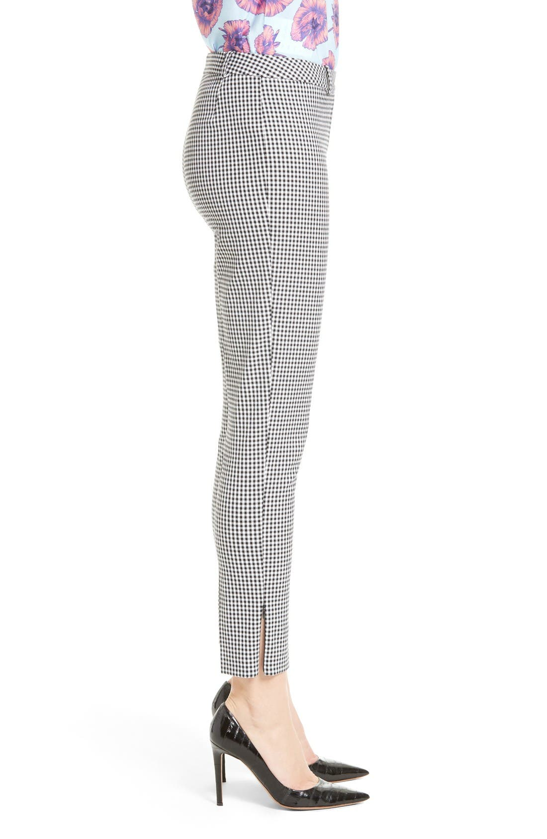 Alternate Image 5  - Altuzarra Henri Gingham Stretch Cotton Pants